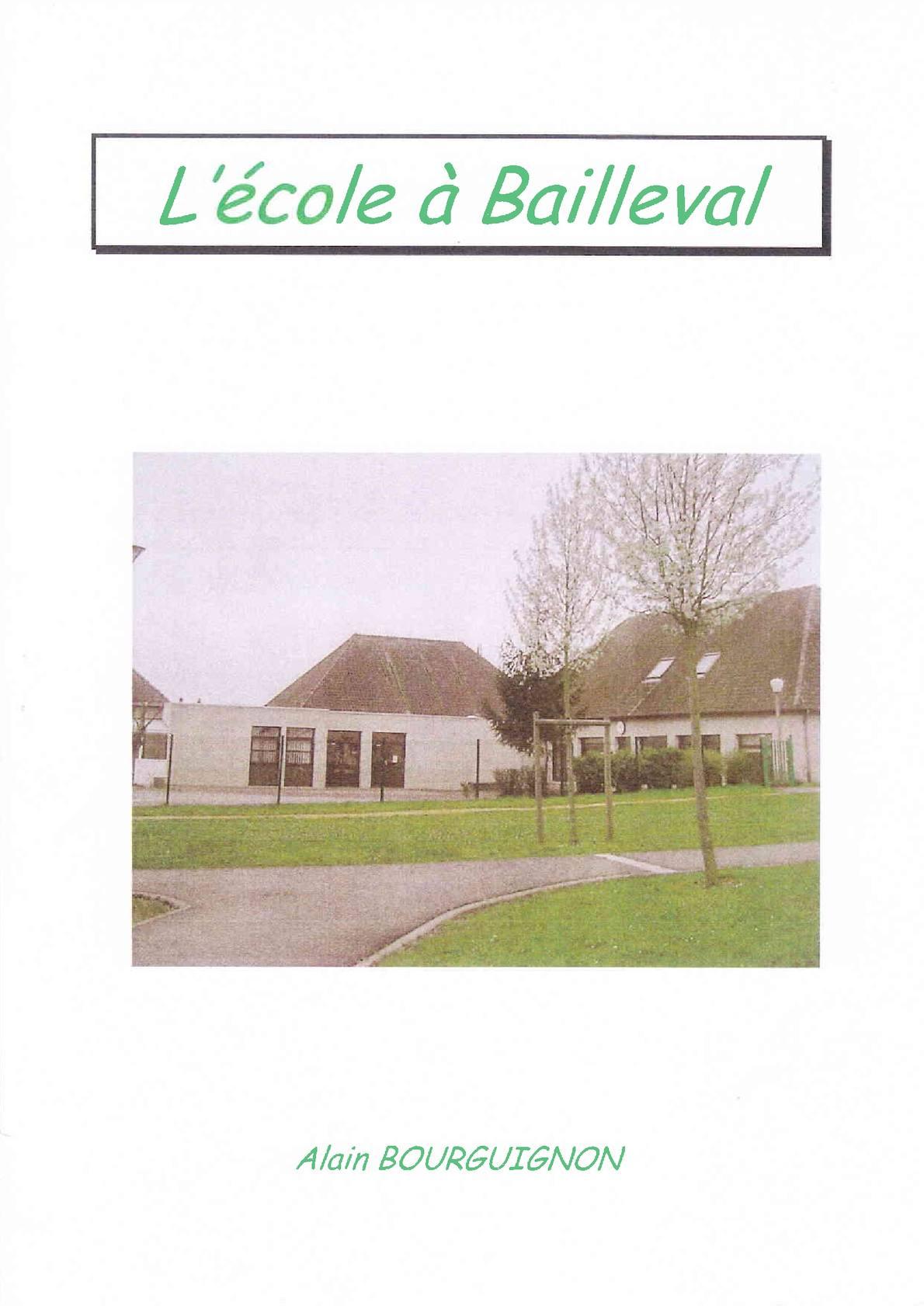 L'ecole à Bailleval