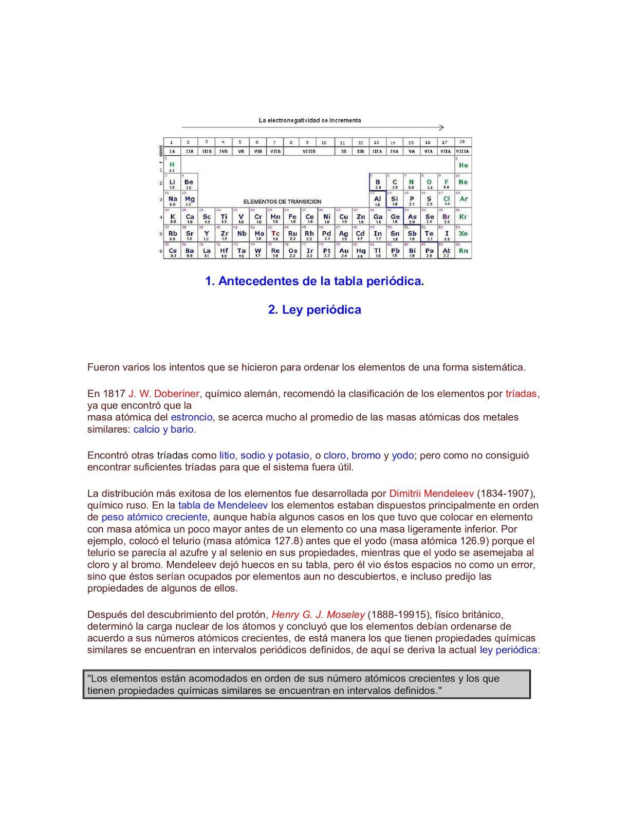 Calaméo Historia De La Tabla Periódica