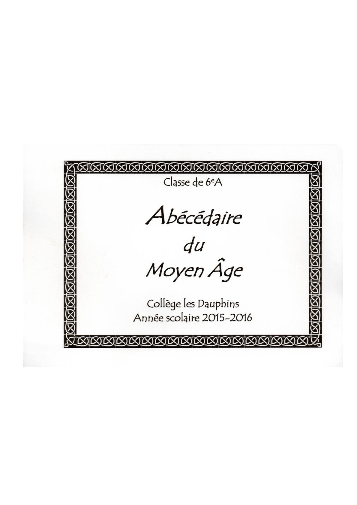 Calameo Abecedaire Sur Le Moyen Age