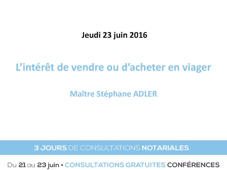 Calameo Conference Juin 2016 L L Interet De Vendre Ou Acheter En