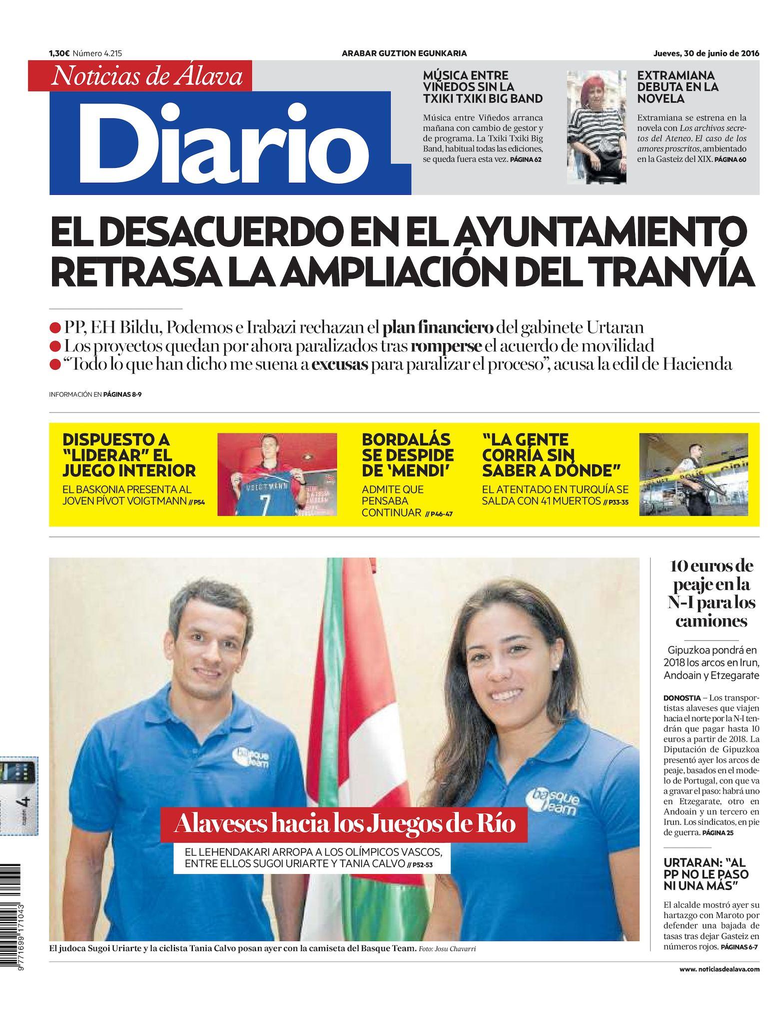 7ce3378538 Calaméo - Diario de Noticias de Álava 20160630