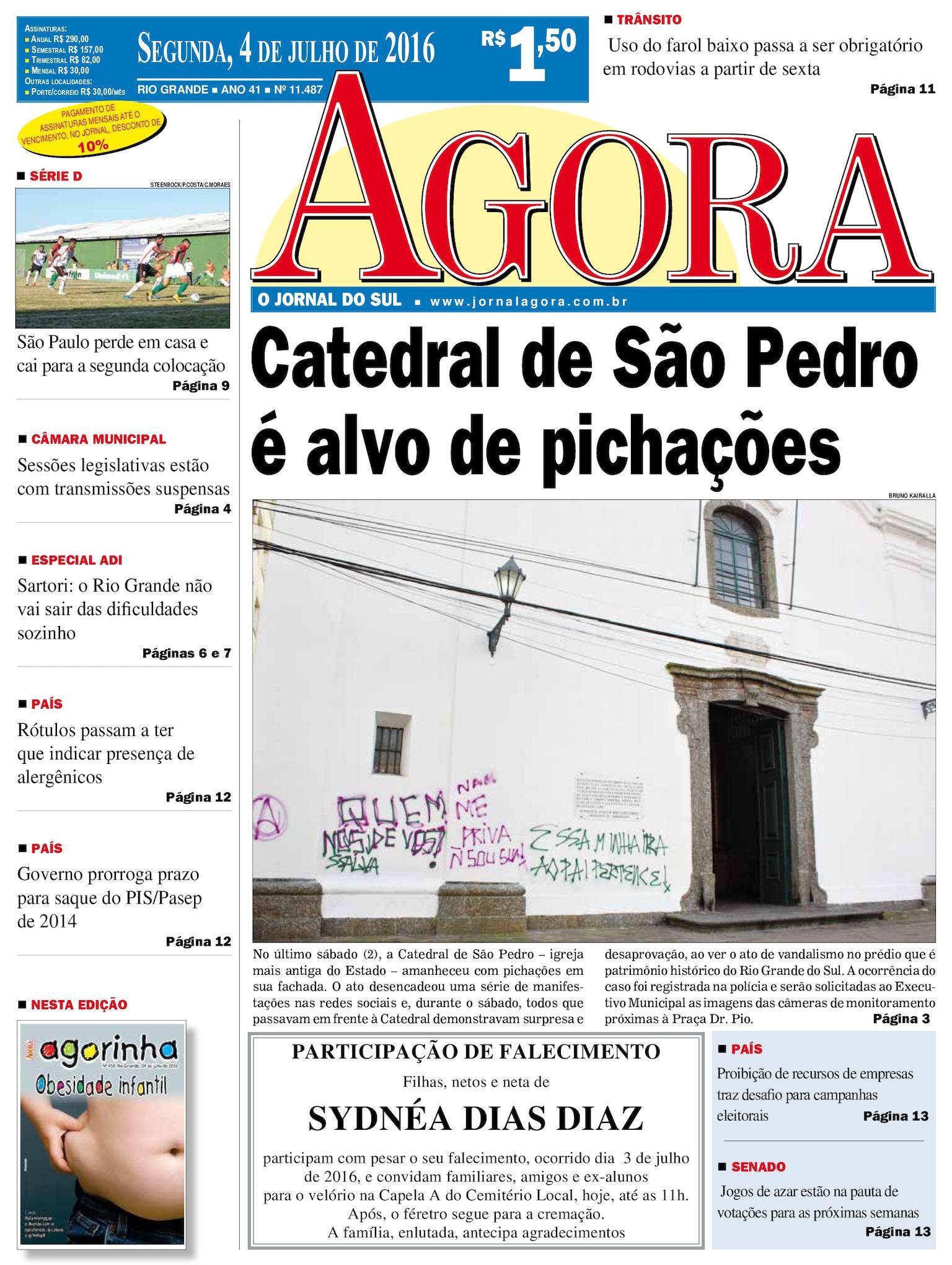 3e1e8b1f7 Calaméo - Jornal Agora - Edição 11487 - 4 de Julho de 2016