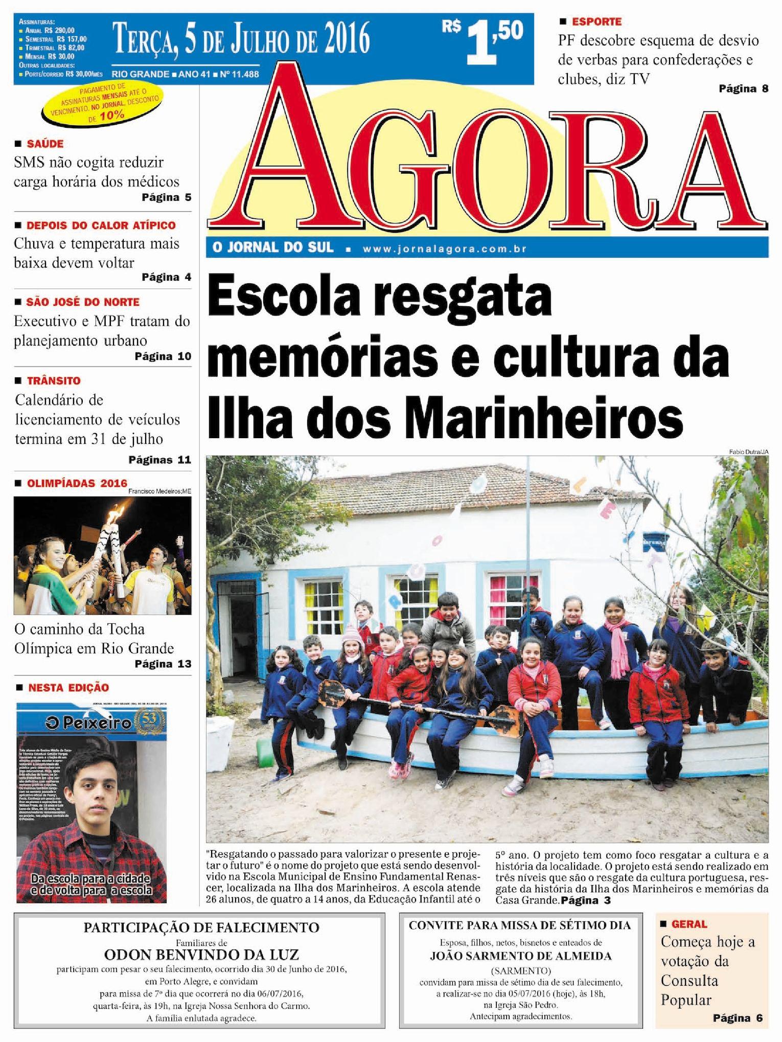 Calaméo - Jornal Agora - Edição 11488 - 5 de Julho de 2016 416d6bdf64e3a