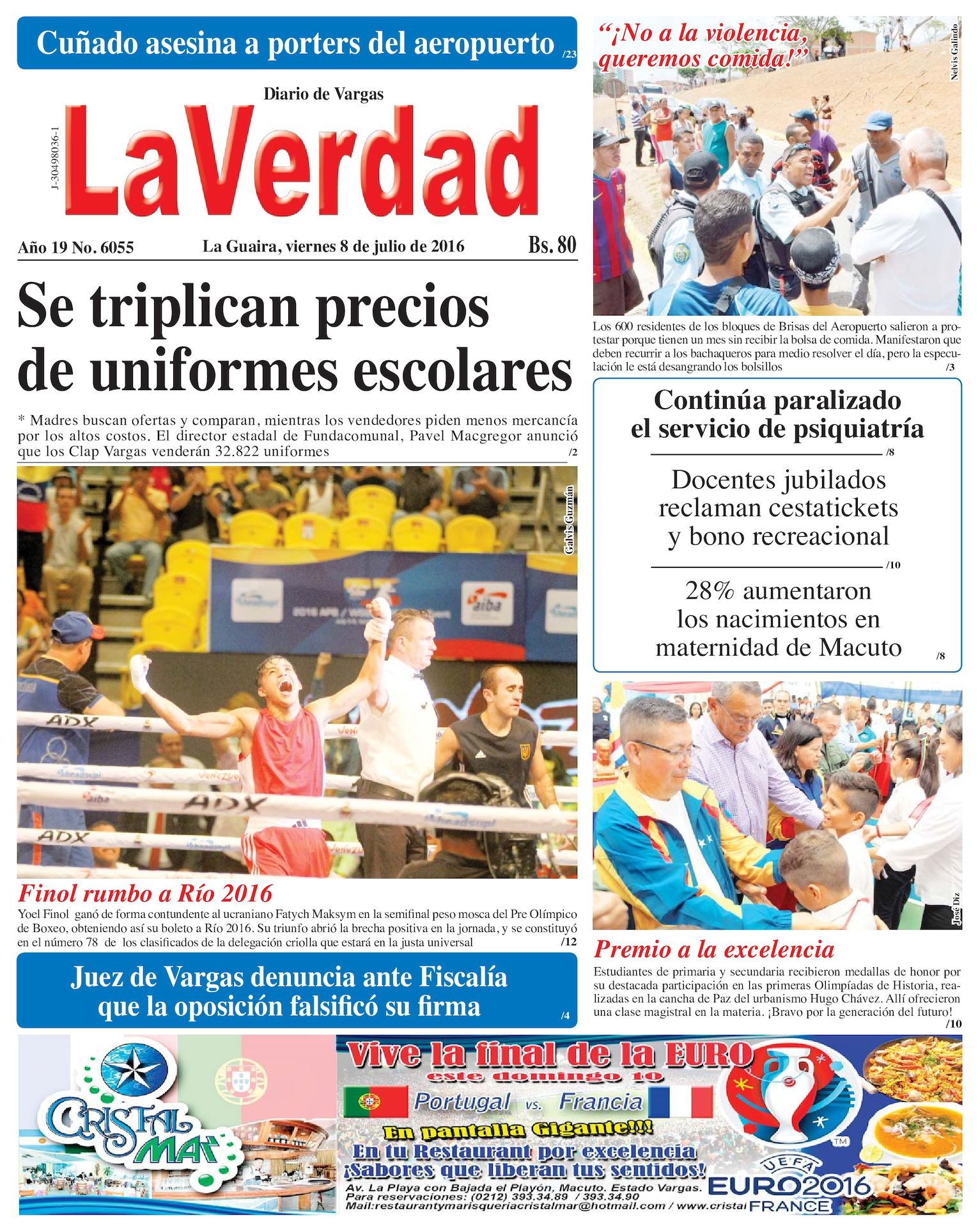 33ca73b681 Calaméo - La Guaira, viernes 8 de julio de 2016 Año 19 Nº. 6055
