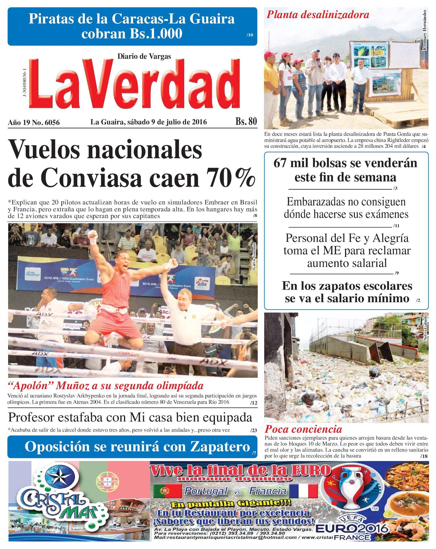 54229cccfc Calaméo - La Guaira, sábado 9 de julio de 2016 Año 19 Nº 6056
