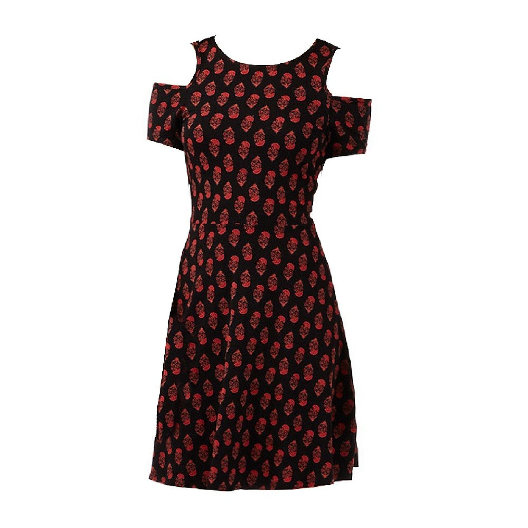 quite nice delicate colors new arrival Calaméo - Red Herring Floral Print Cold Shoulder Skater Dress For ...