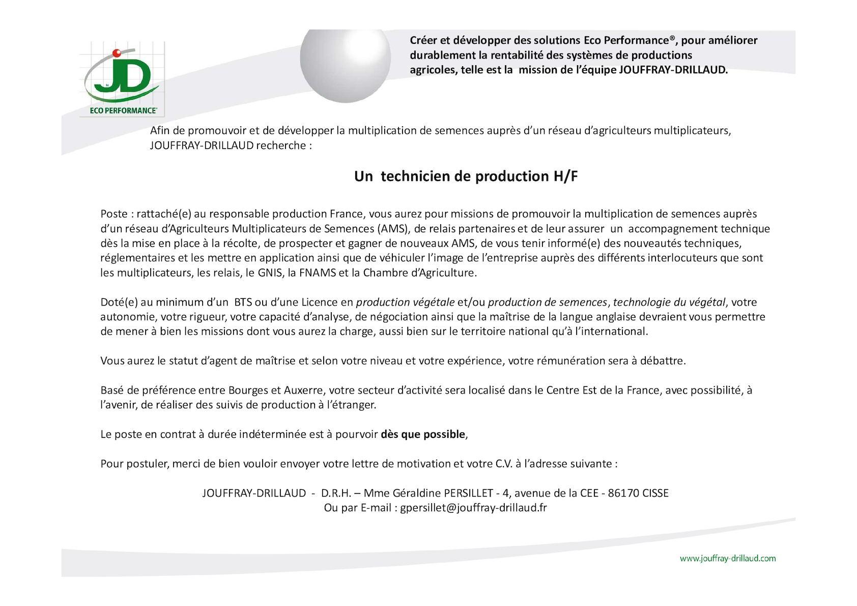 lettre de motivation pour bts production vegetale