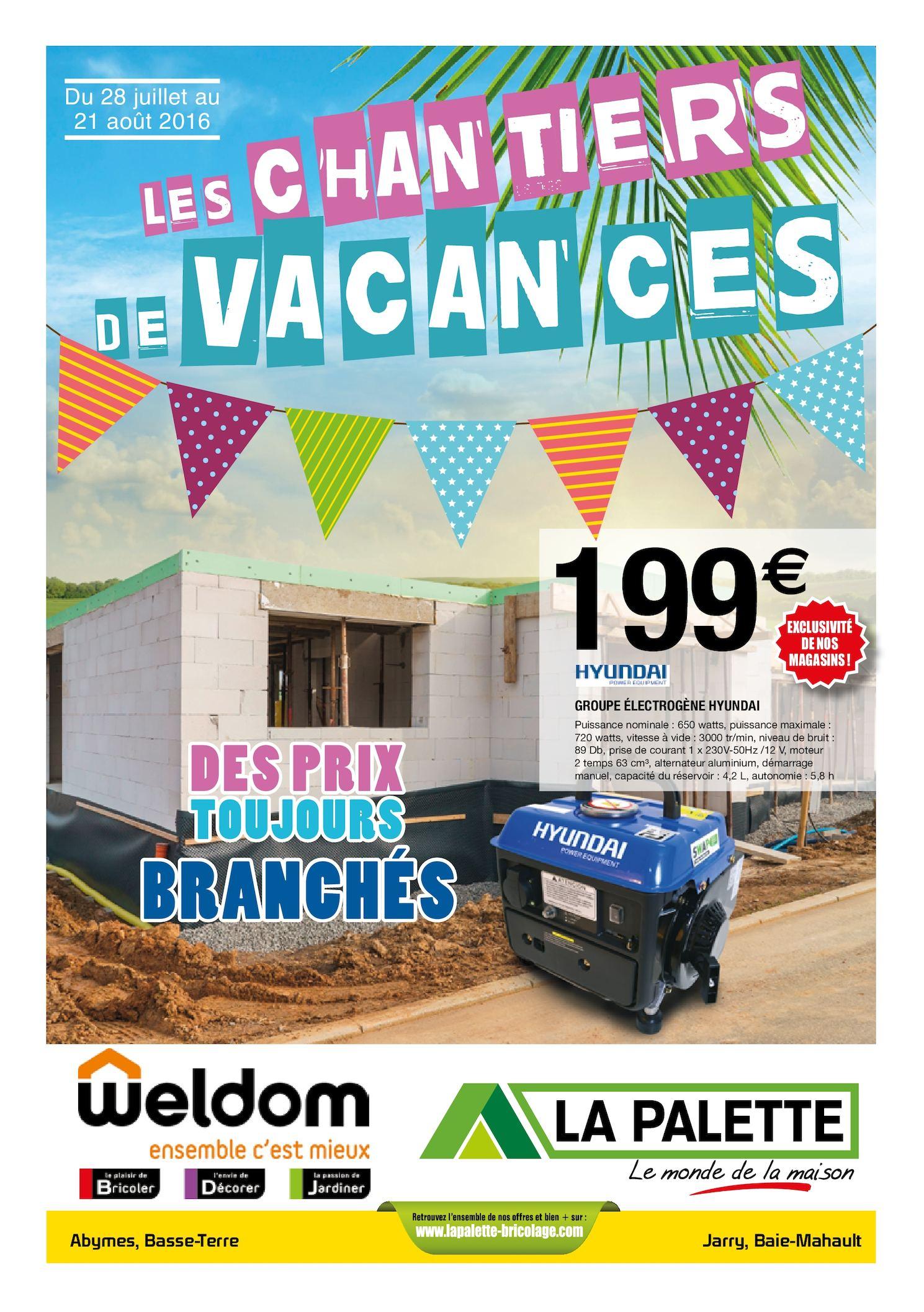Calaméo La Palette Weldom Guadeloupe Chantiers De Vacances