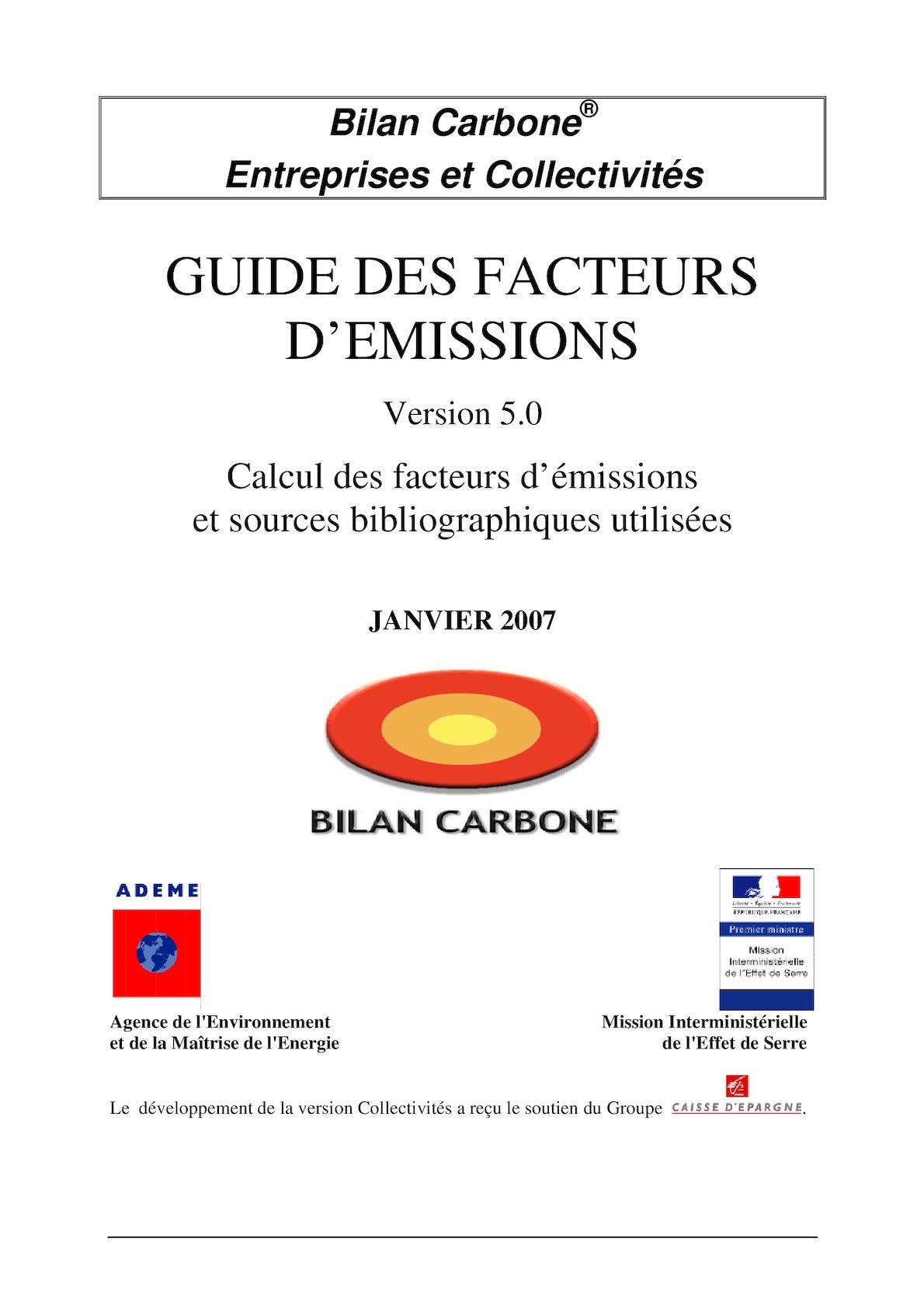 Calaméo - Guide Des Facteurs D emissions 2007 8ed444b3aec7