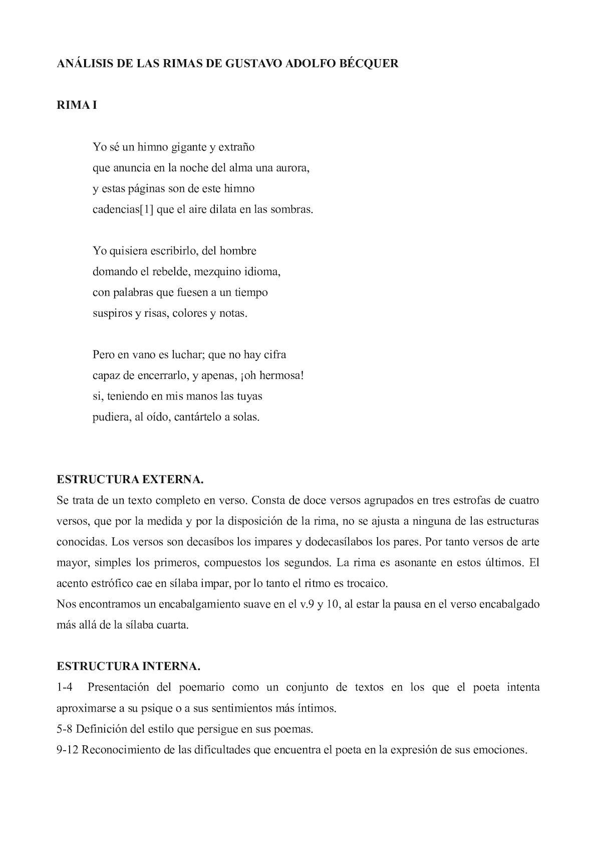 Calaméo Analisis De Las Rimas De Becquer