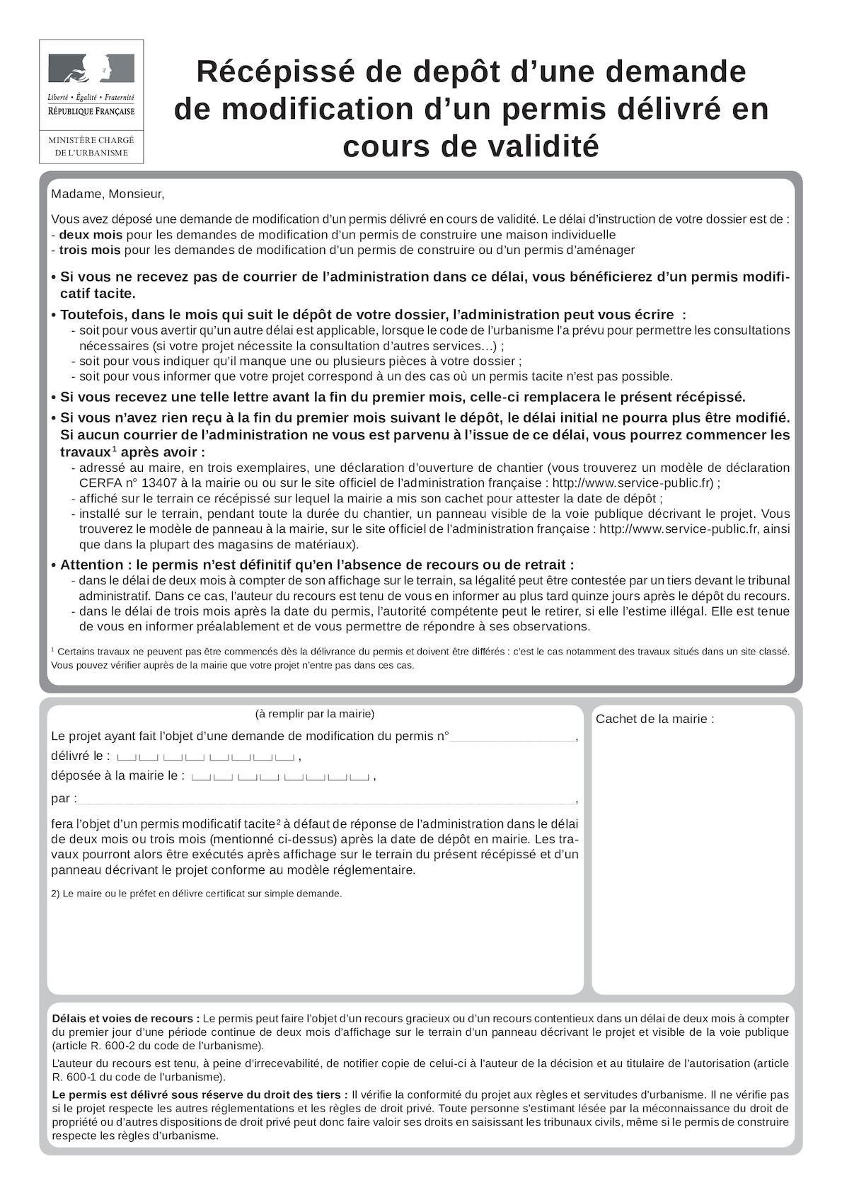 Calameo Cerfa 13411 05 Permis Modificatif