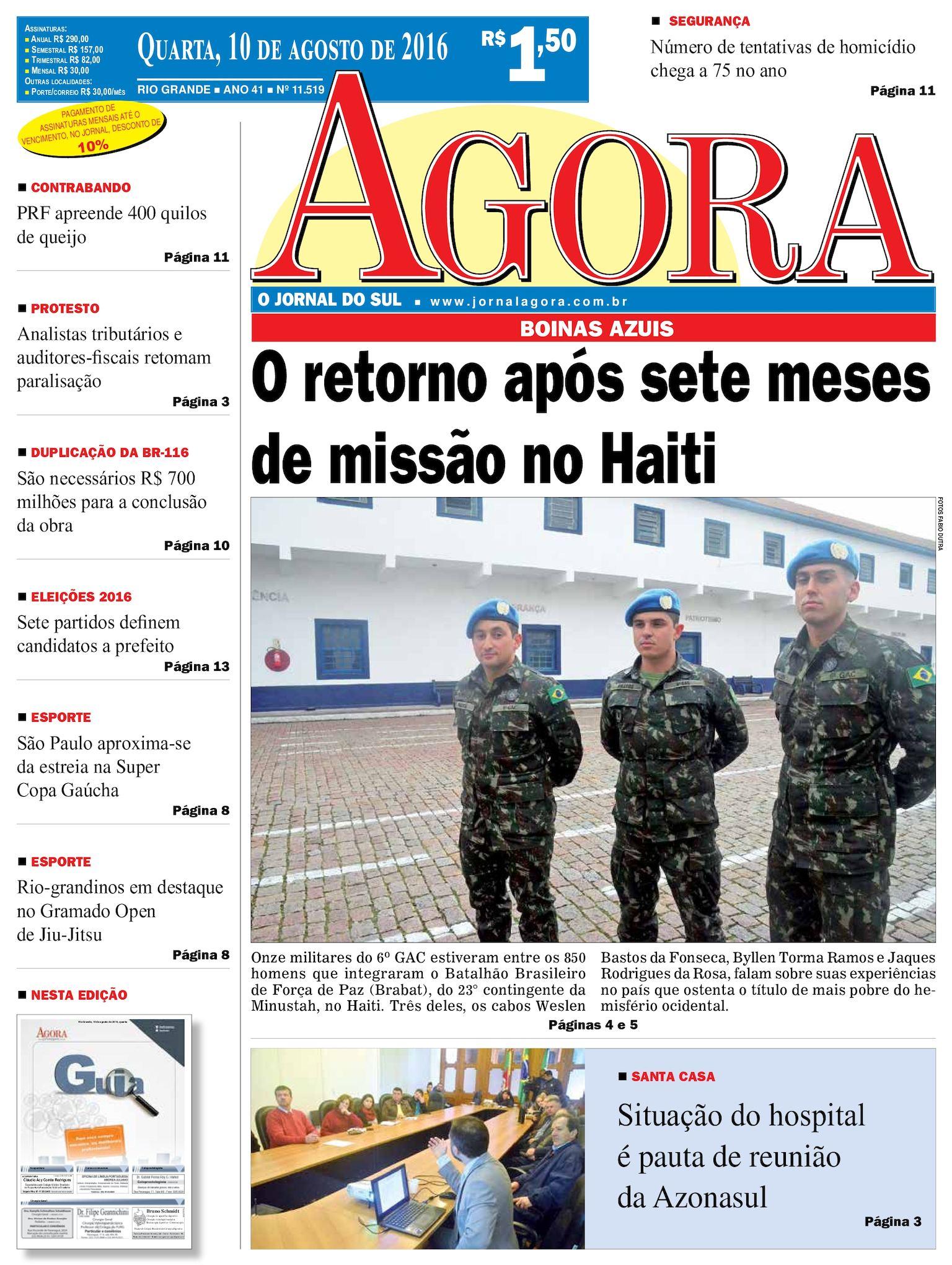 Calaméo - Jornal Agora - Edição 11519 - 10 de Agosto de 2016 454bb975610
