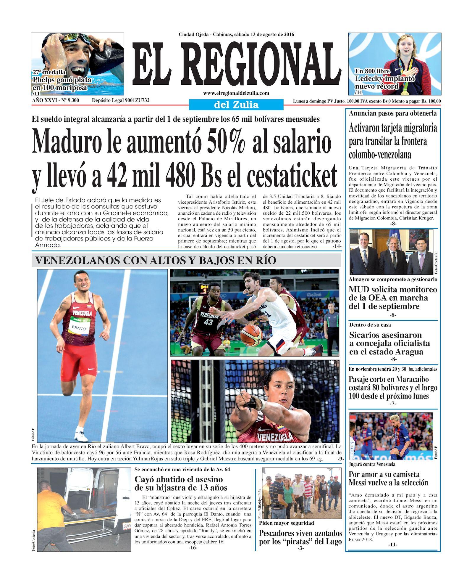 Calaméo El Regional del Zulia 13 08 2016