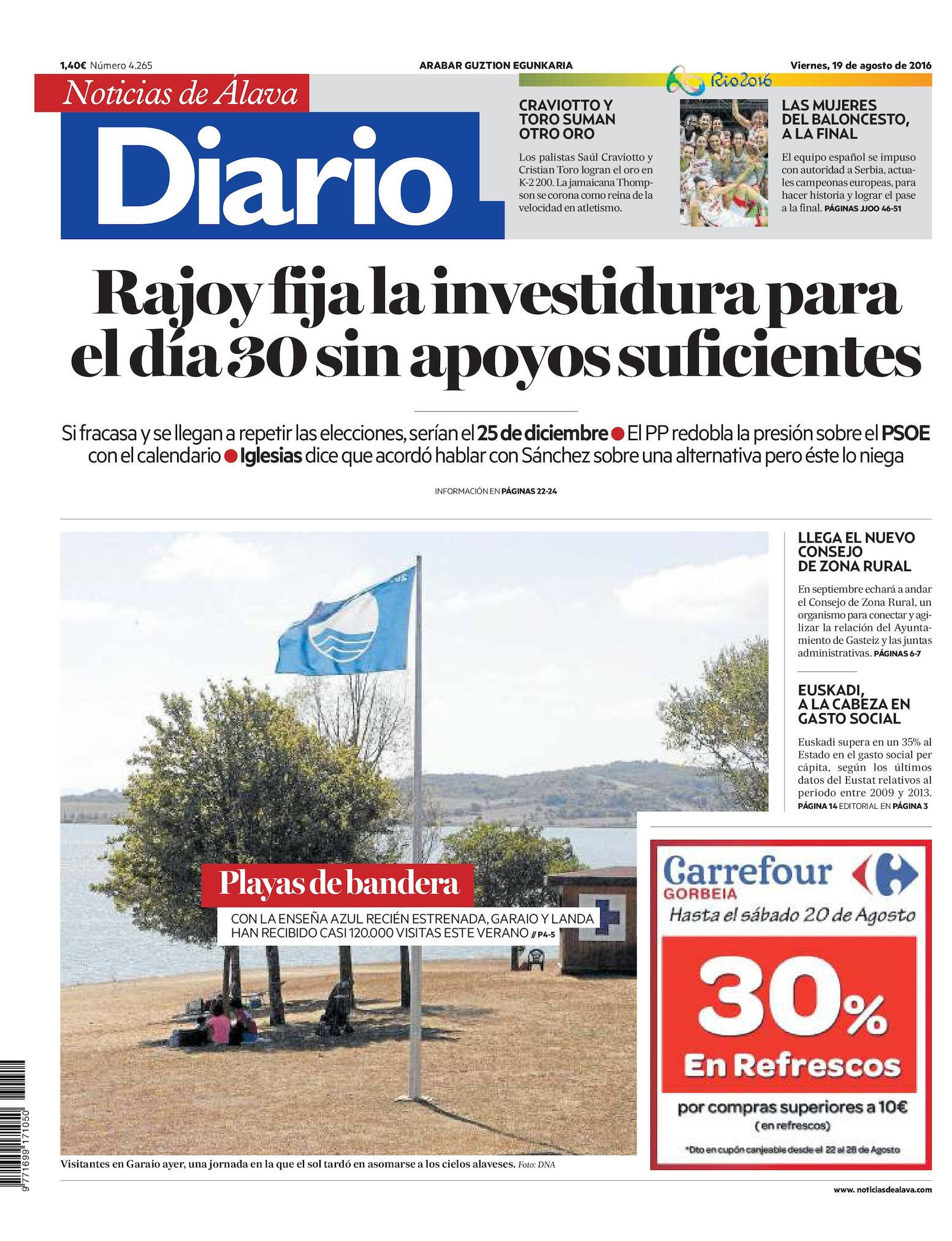 fc300212f8 Calaméo - Diario de Noticias de Álava 20160819