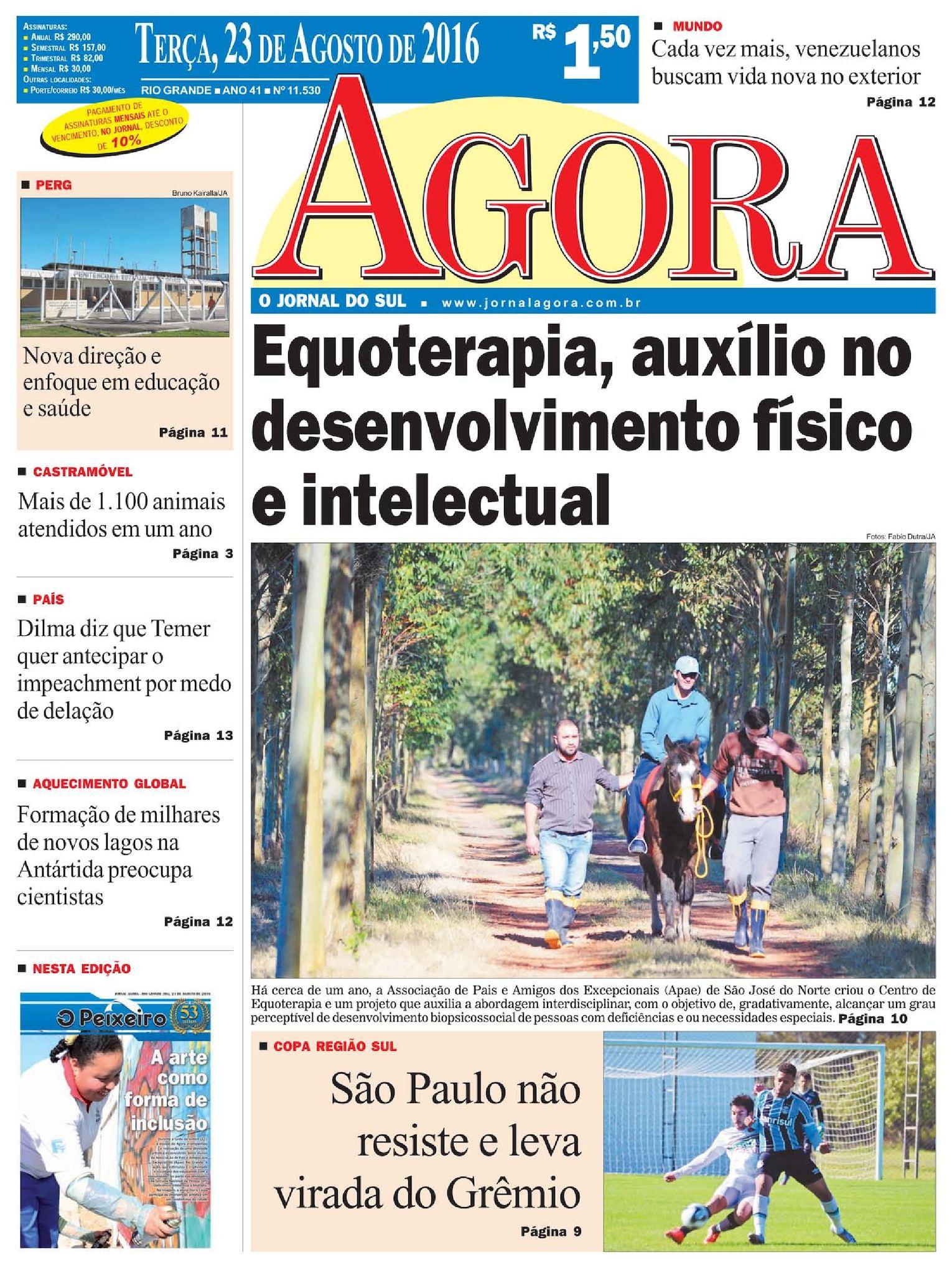 Calaméo - Jornal Agora - Edição 11530 - 23 de Agosto de 2016 2694265f121