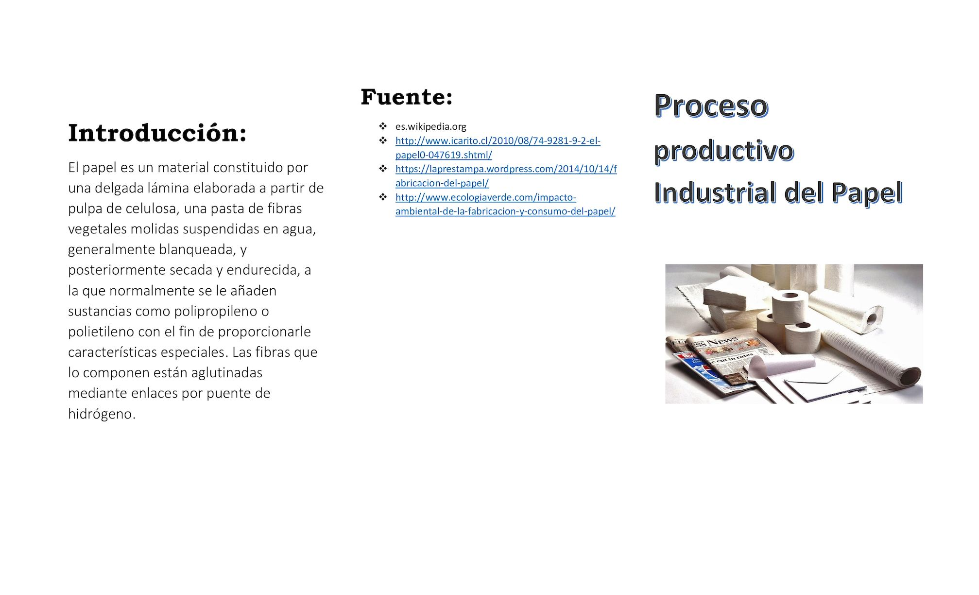 b1f6726dd Calaméo - Proceso Productivo Papel