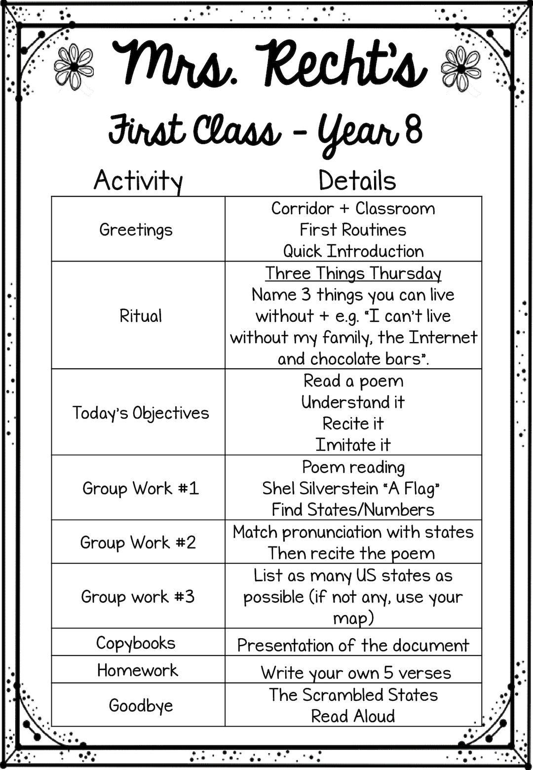 Calam 233 O First Classes Schedule