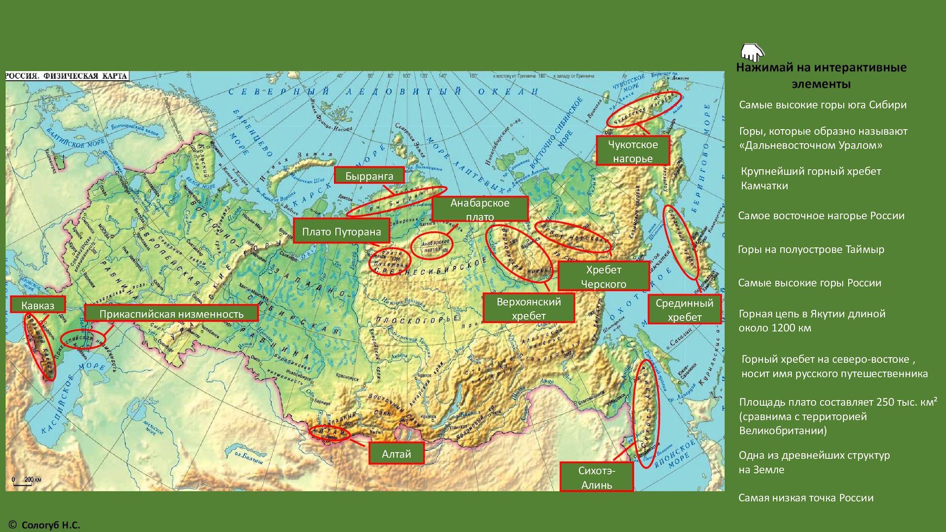 это равнины россии на контурной карте месте выполнения путевых