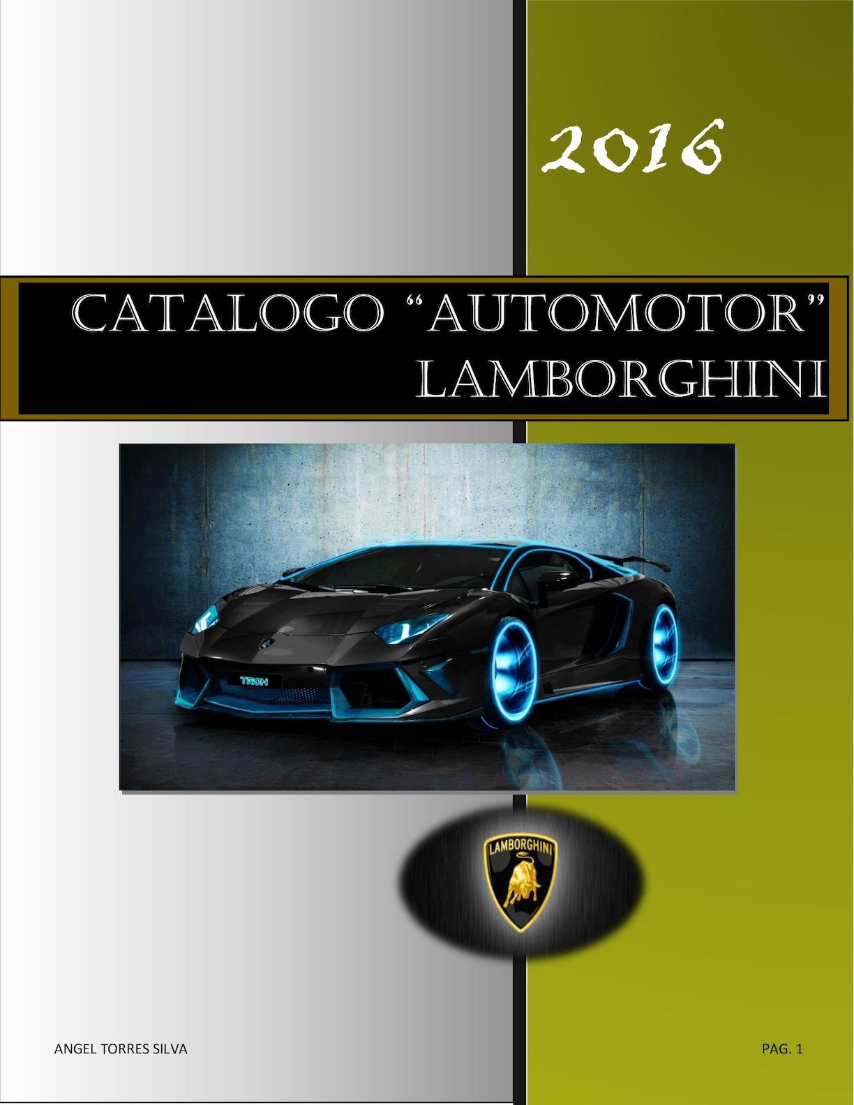 Calameo Catalogo Lamborghini