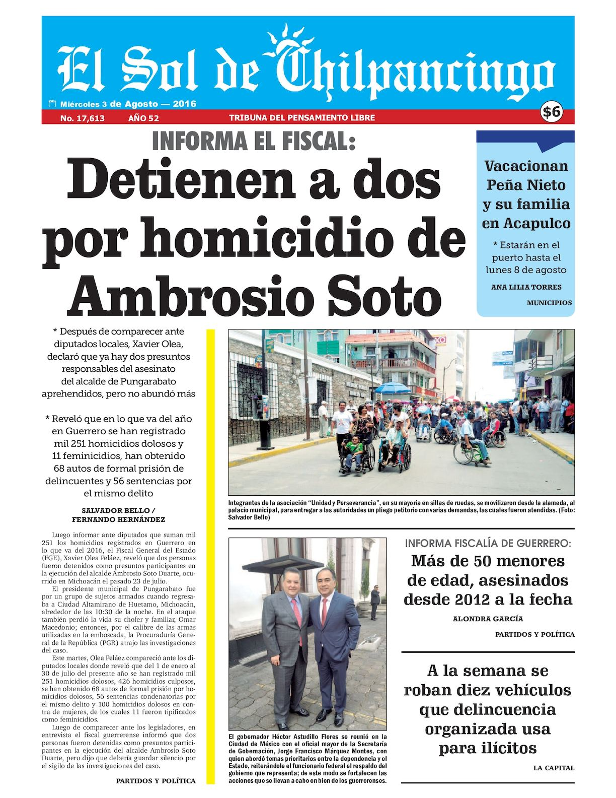 Calaméo - El Sol De Chilpancingo - 03 Agosto 2016 658f6c0fd61f