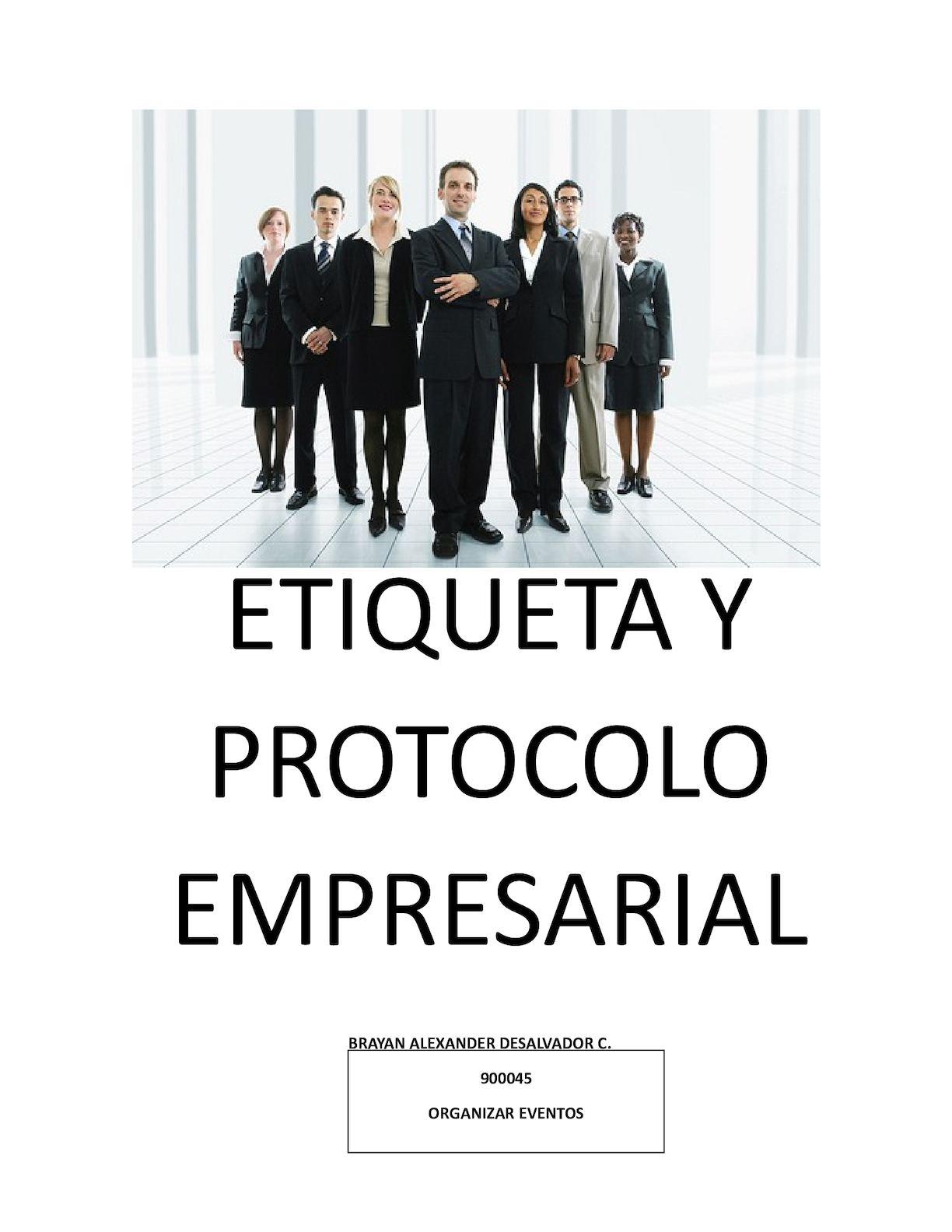 291900b78 Calaméo - Protocolo Y Etiqueta Empresarial