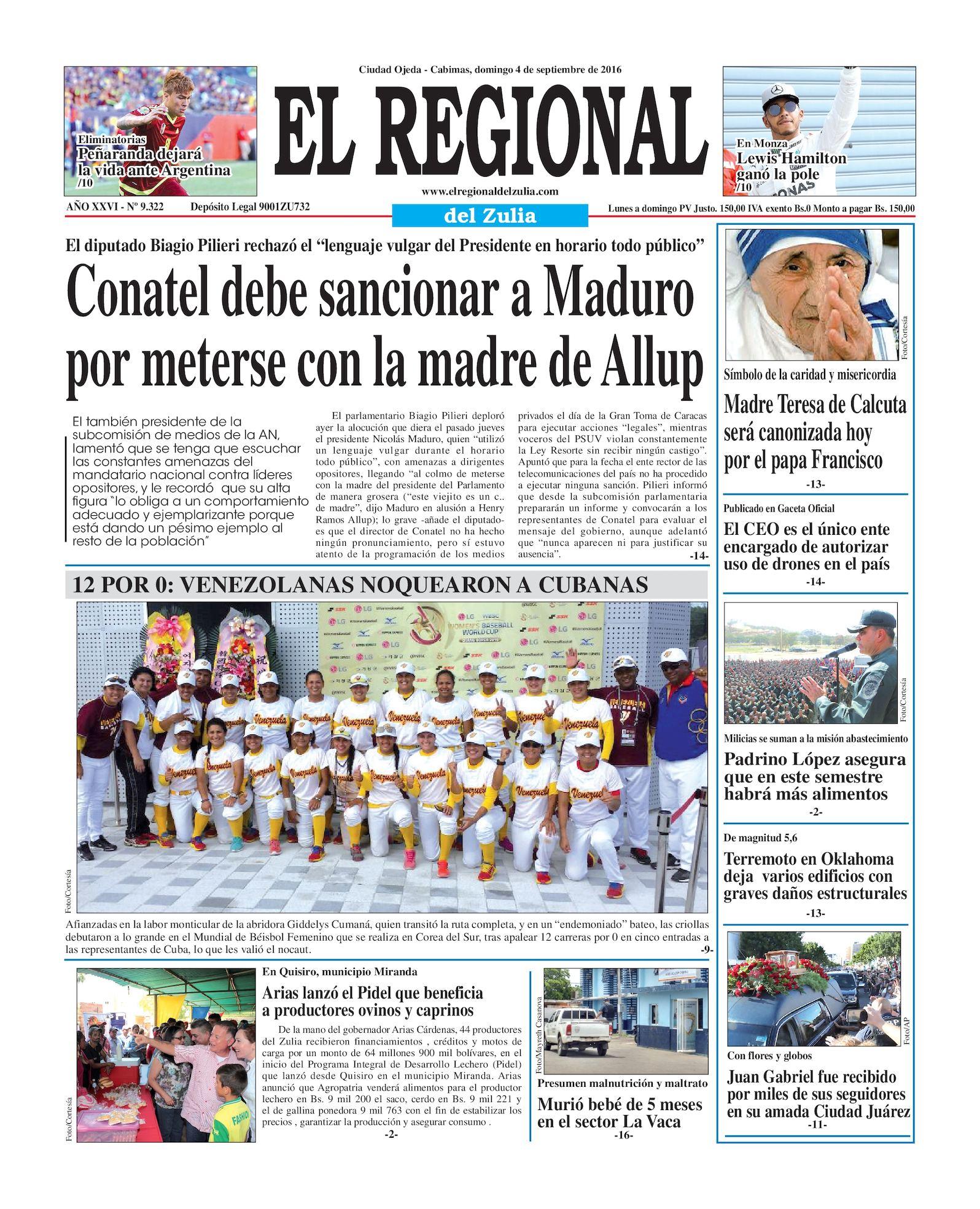 320797d2ab Calaméo - El Regional del Zulia 04-09-2016