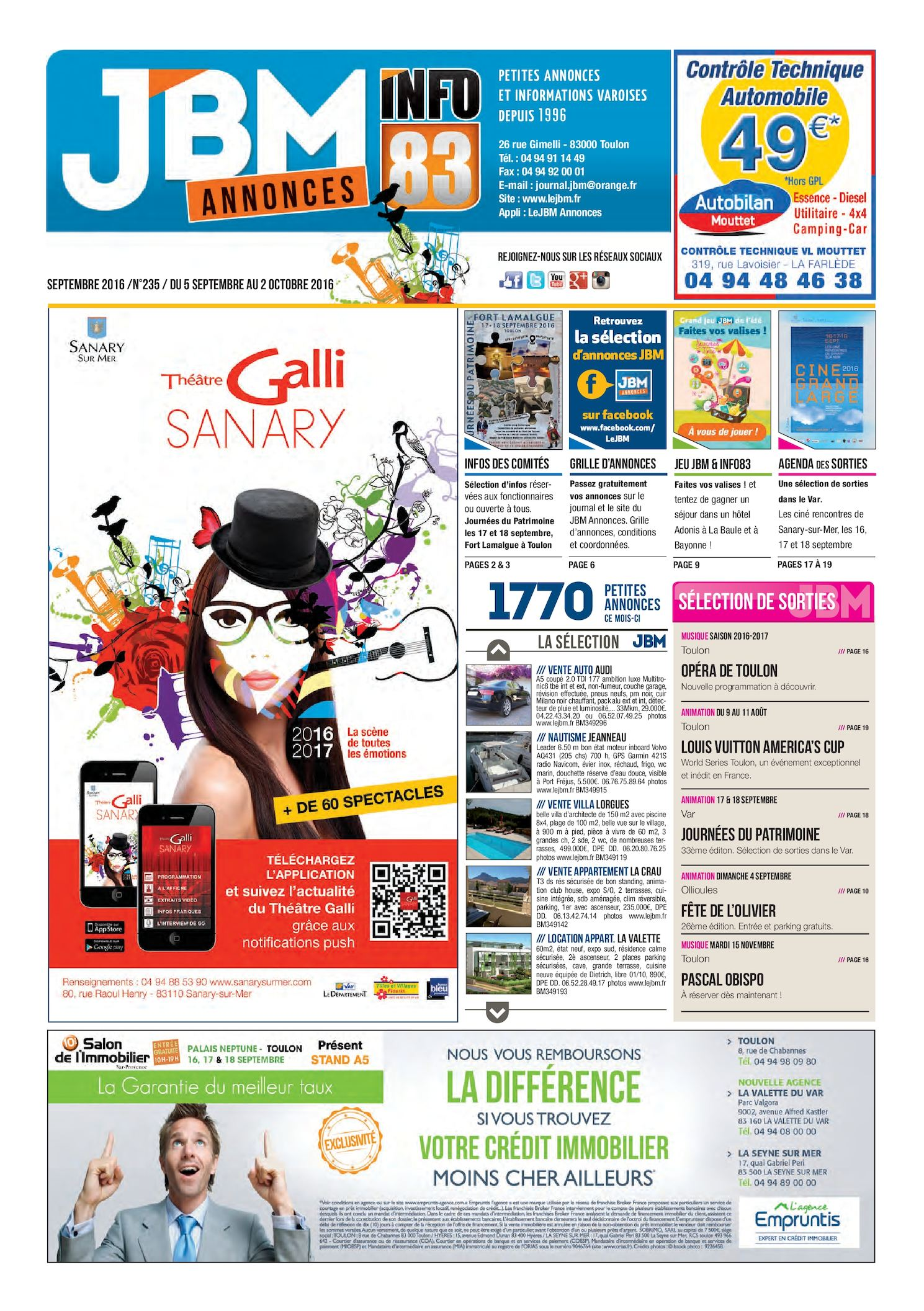 Calaméo - Journal JBM Annonces n°235 Septembre 2016 4eba98ace5a