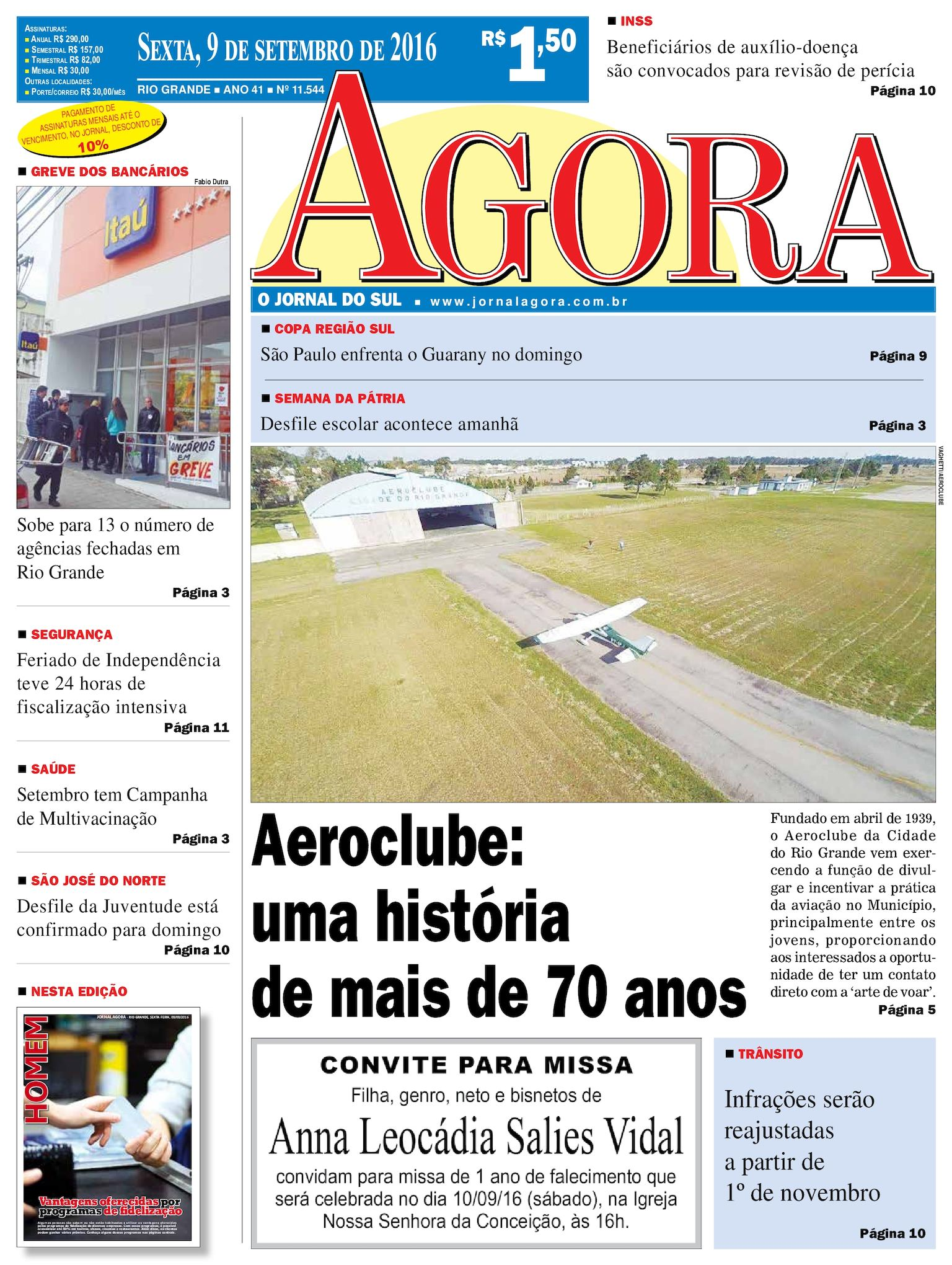 3154c2e0b1 Calaméo - Jornal Agora - Edição 11544 - 9 de Setembro de 2016