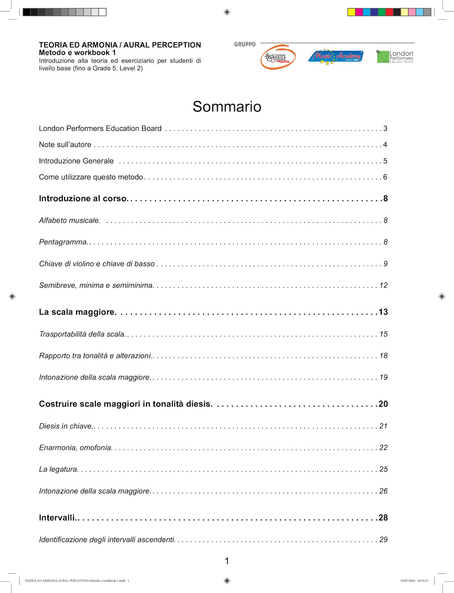 TEORIA ED ARMONIA AURAL PERCEPTION Metodo E Workbook 1
