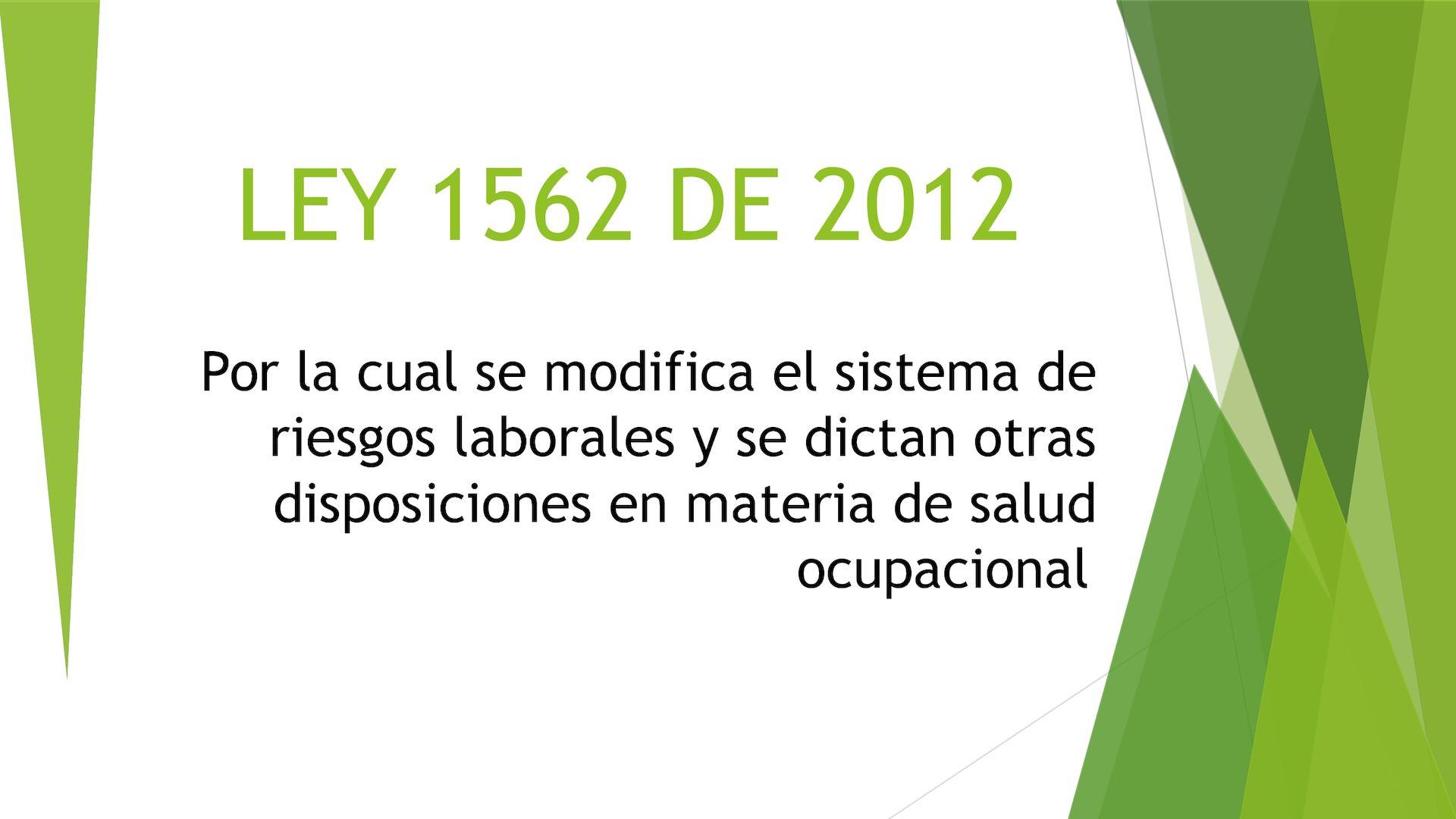 Calameo Ley 1562 De 2012