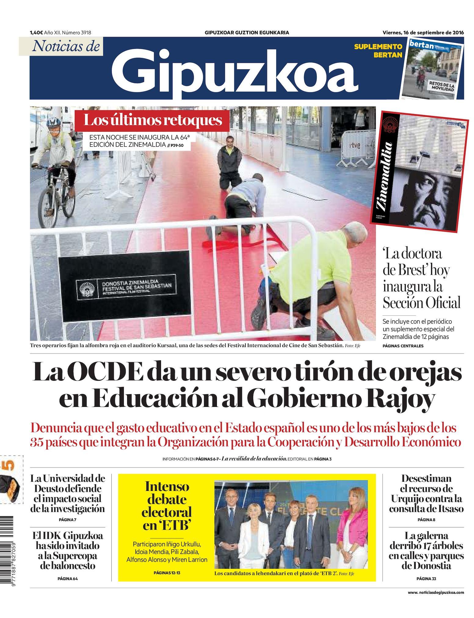 fd04ad0b4 Calaméo - Noticias de Gipuzkoa 20160916