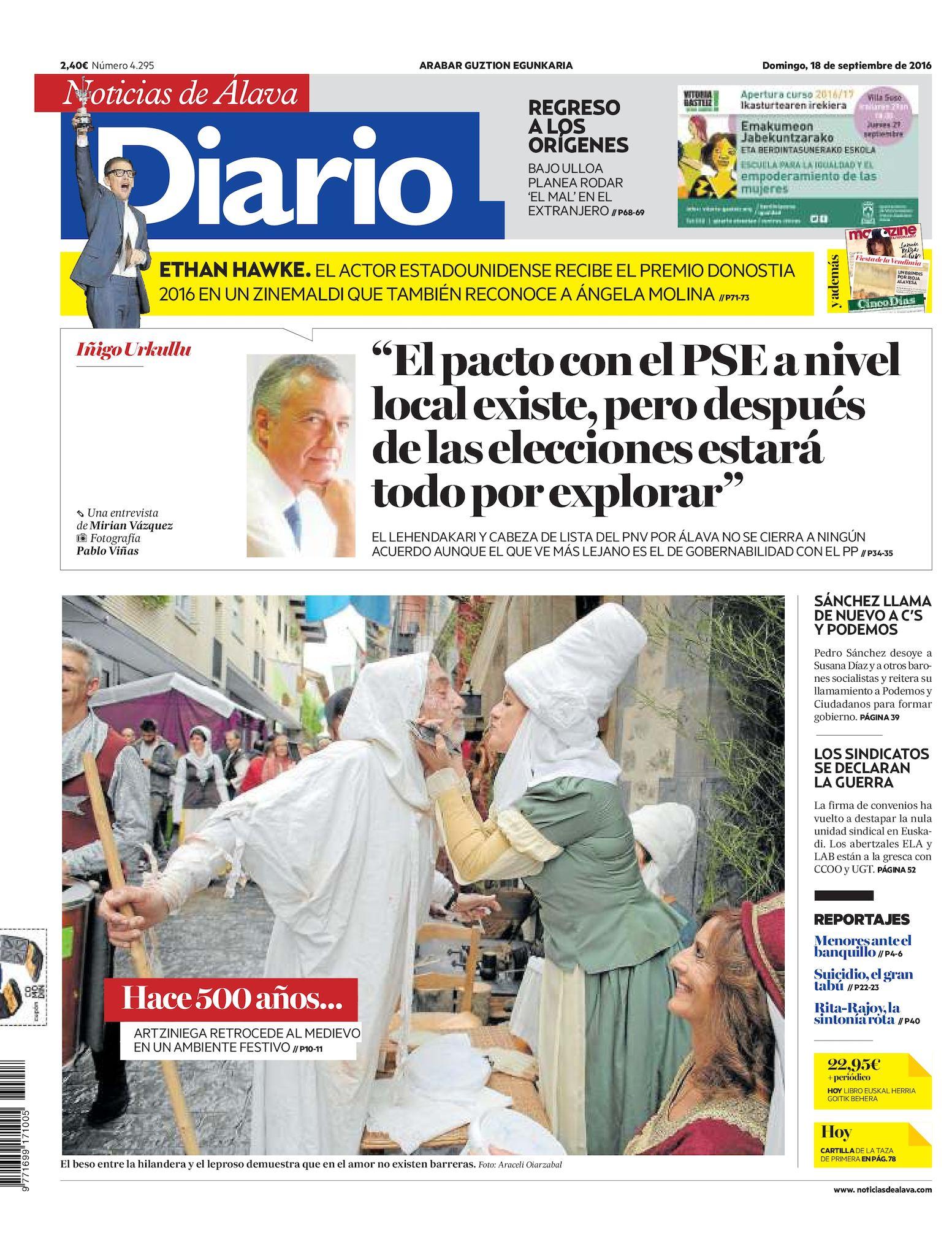6ae0d2366 Calaméo - Diario de Noticias de Álava 20160918