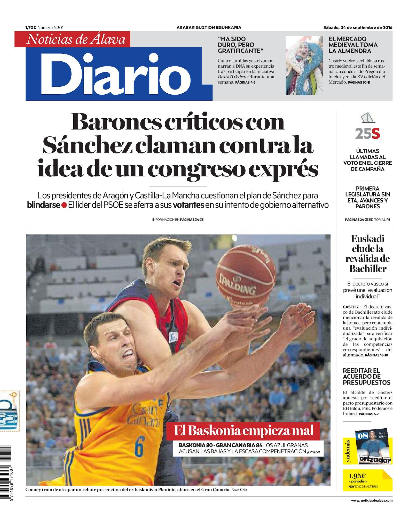 b6bb7b7578 Calaméo - Diario de Noticias de Álava 20160924