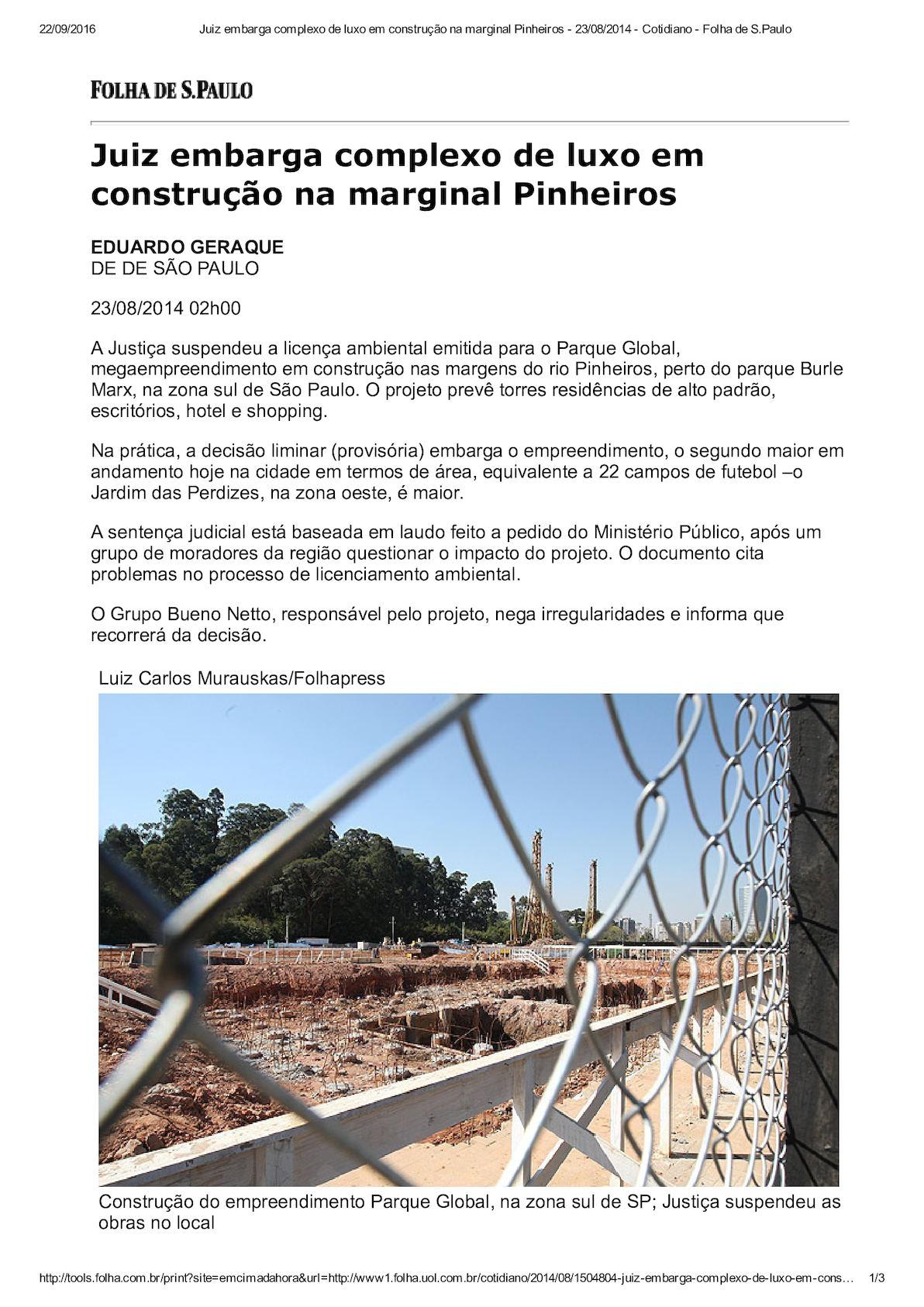 Doc. 14 BUENO NETTO é Parte Passiva No Maior Embargo Ambiental Judicial Do Brasil