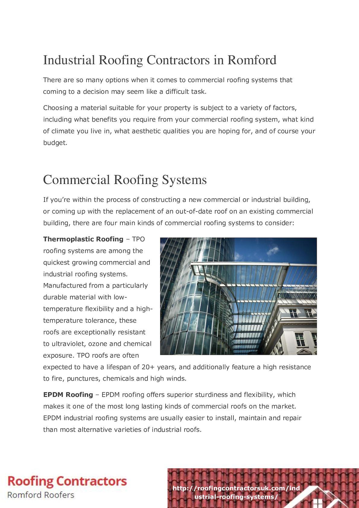 Calameo Industrial Roofing Contractors In Romford