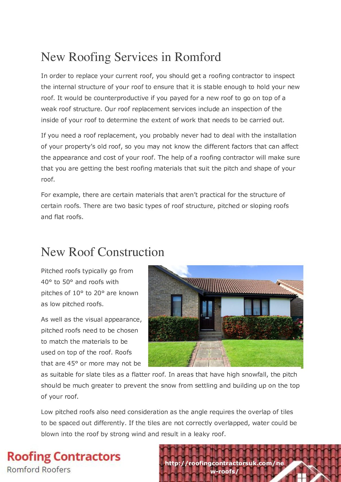 Calameo New Roofing Services In Romford