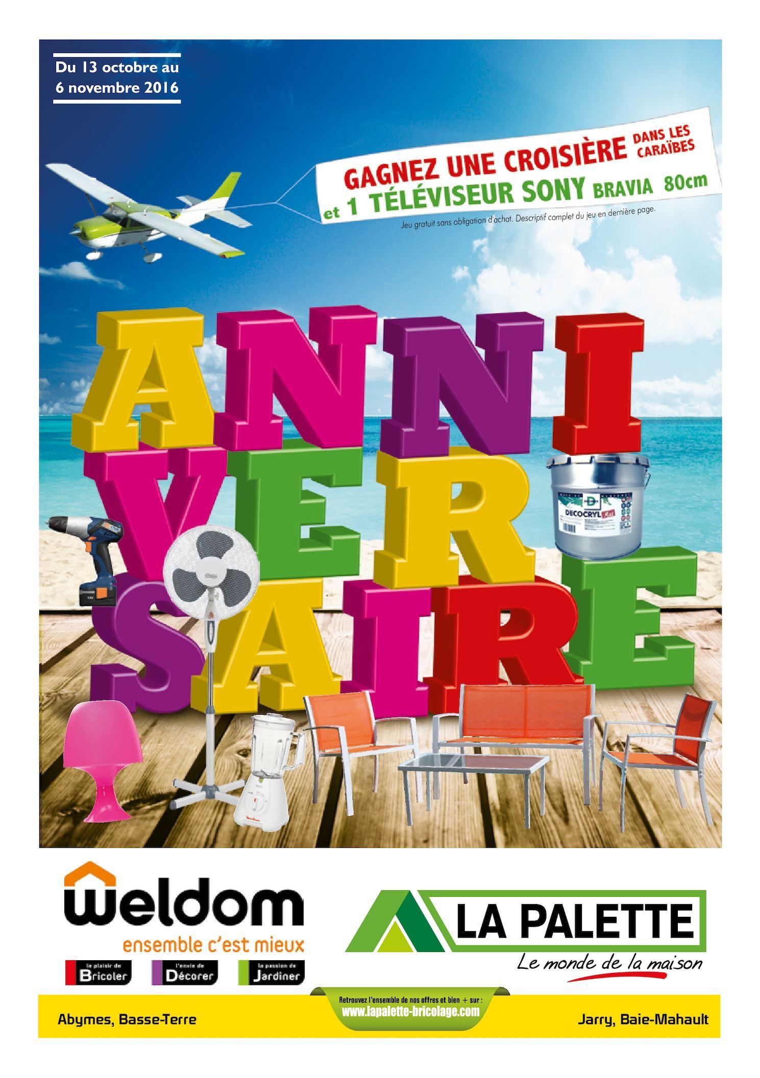 Calaméo La Palette Weldom Guadeloupe Anniversaire