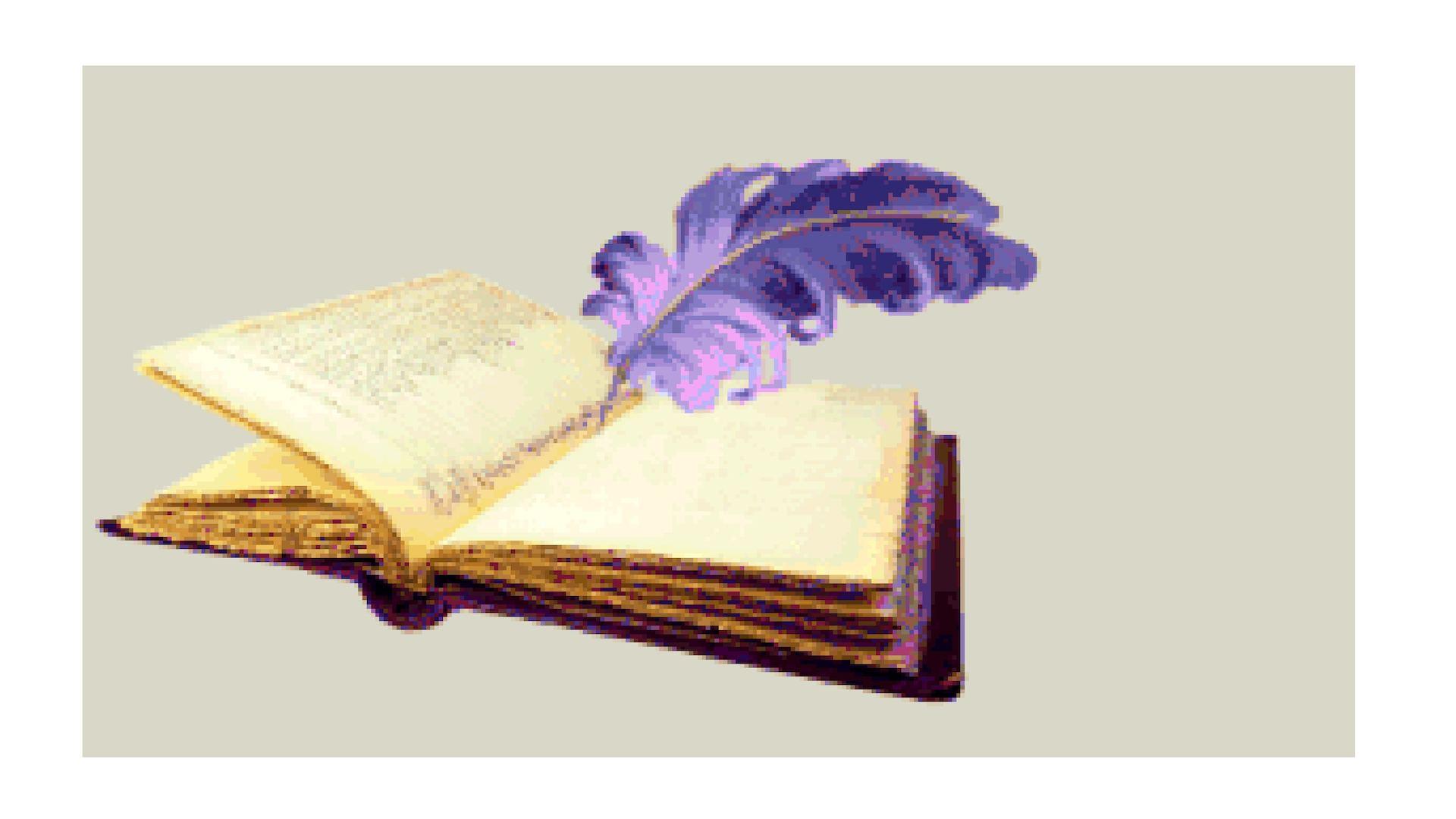 Наступающим, гифка книги без фона
