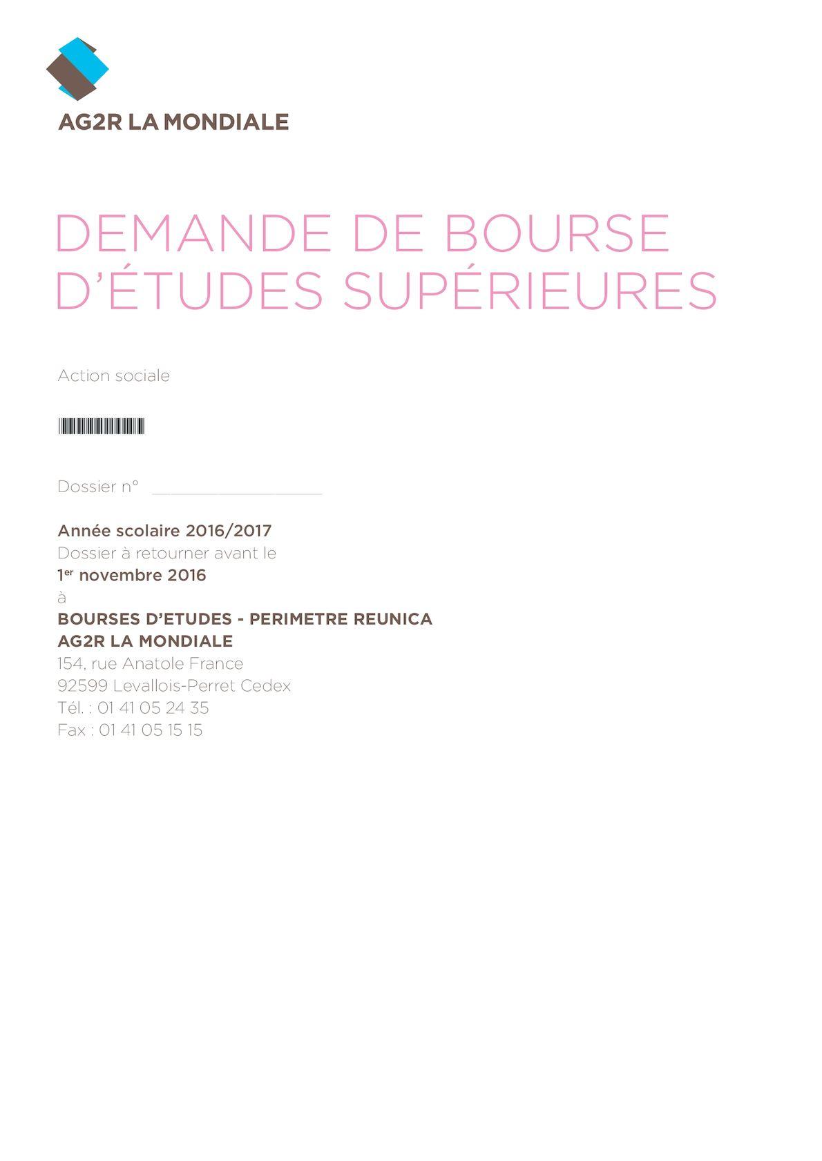 Calameo Dossier Bourse Etudes Superieures 072016 52958