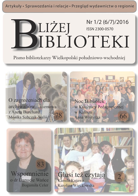 Calaméo Bliżej Biblioteki 2016 1 26 7
