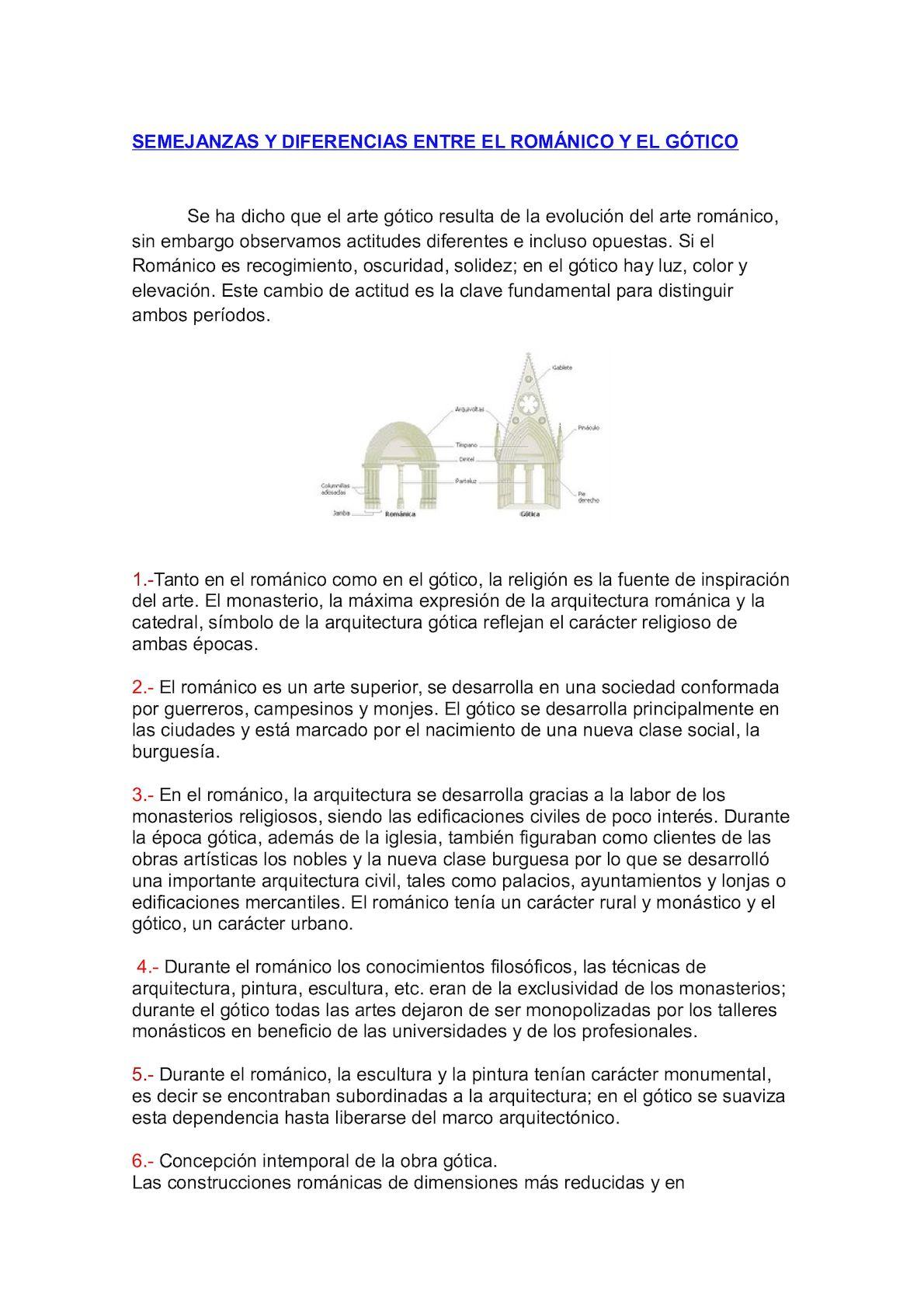 Calaméo Semejanzas Y Diferencias Entre El Románico Y El Gótico Definitivo