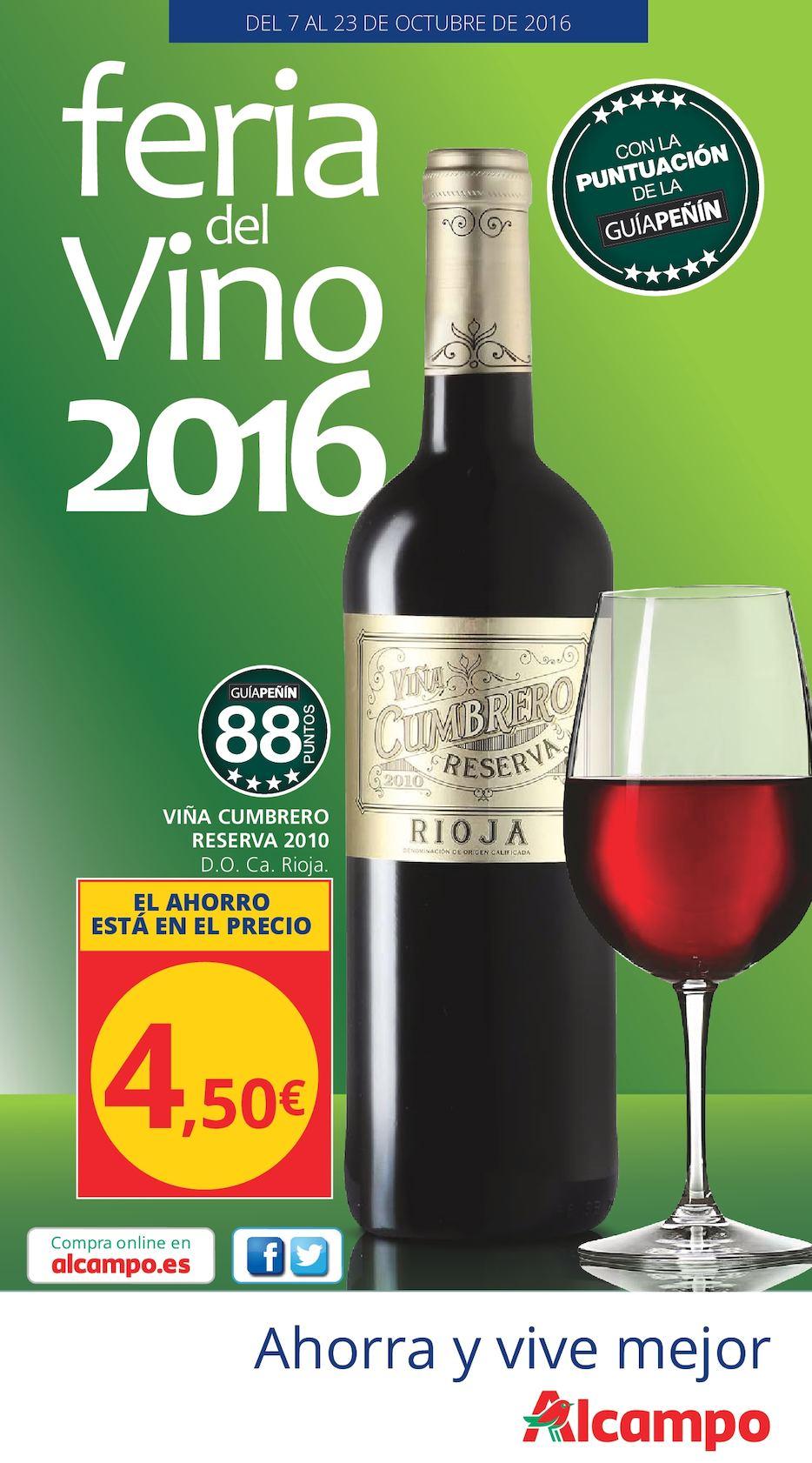 Calaméo Catálogo Alcampo Feria Del Vino 2016