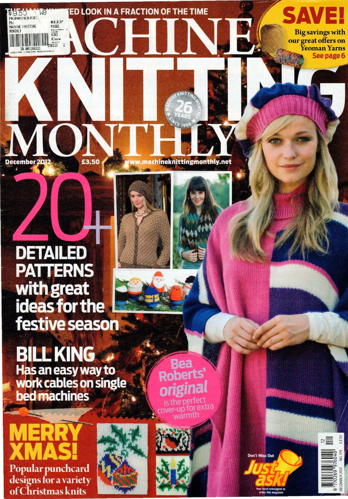 Machine Knitting Monthly Magazine 2012 12 300dpi Clear Scan Ocr