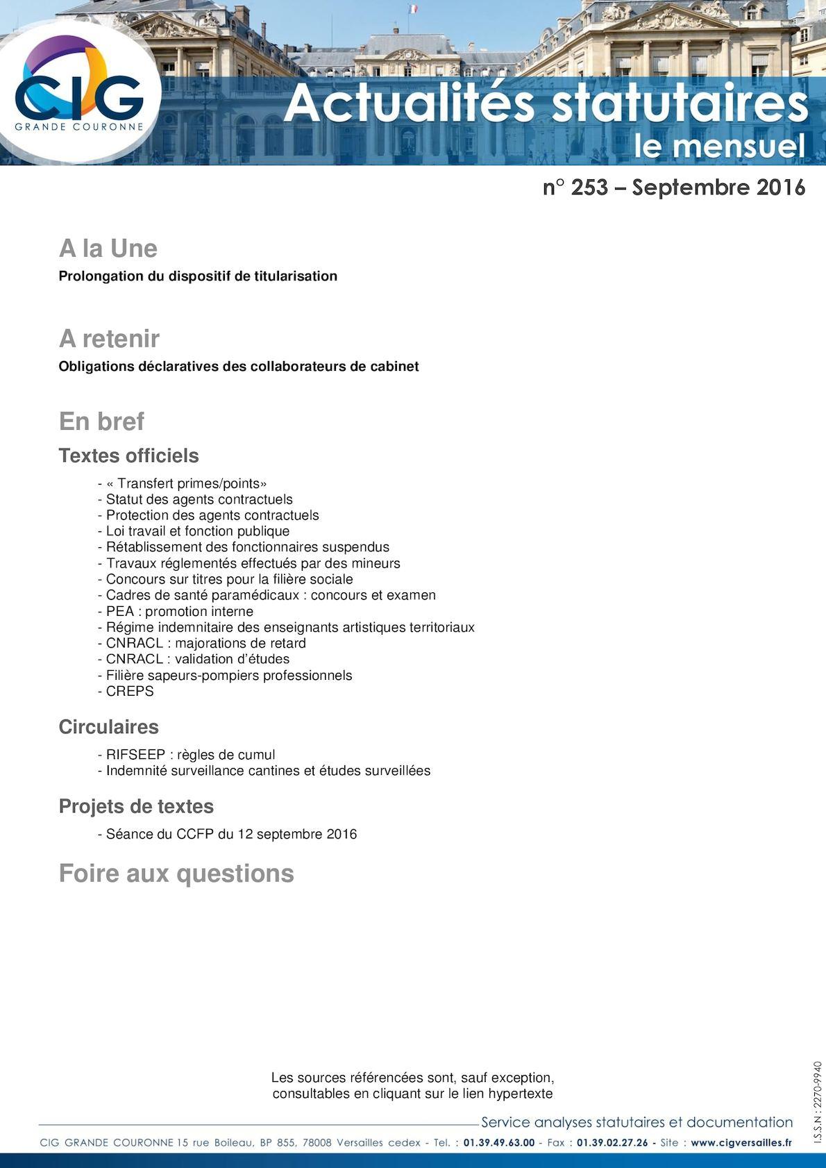 b20dd7f0727 Calaméo - Actualités Statutaires N° 253 Septembre 2016 (2)