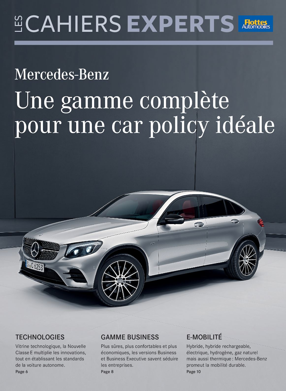 calam o les cahiers experts mercedes benz une gamme compl te pour une car policy id ale. Black Bedroom Furniture Sets. Home Design Ideas