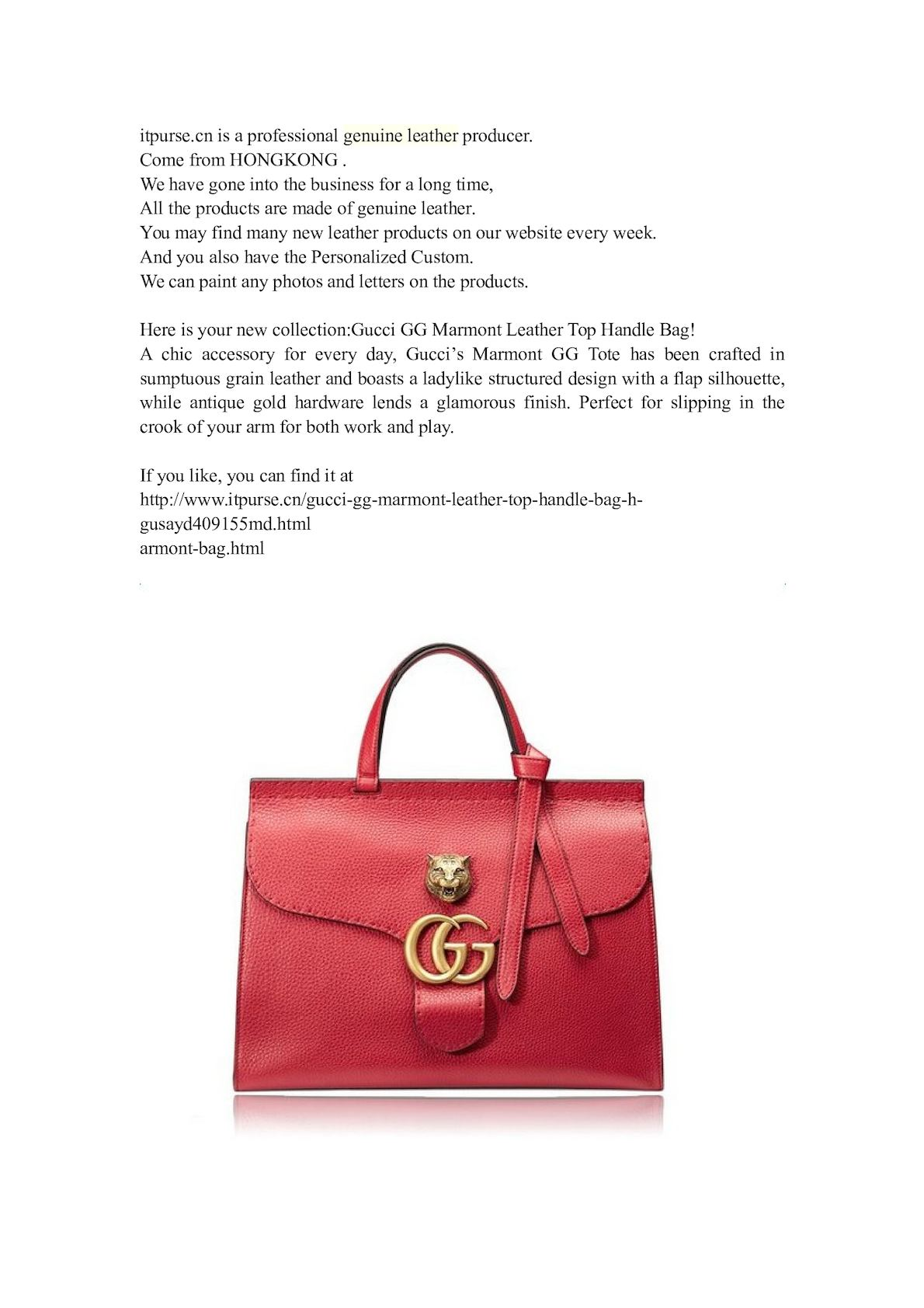 5178891b435def Calaméo - You May Like Gucci Gg Marmont Leather Top Handle Bag