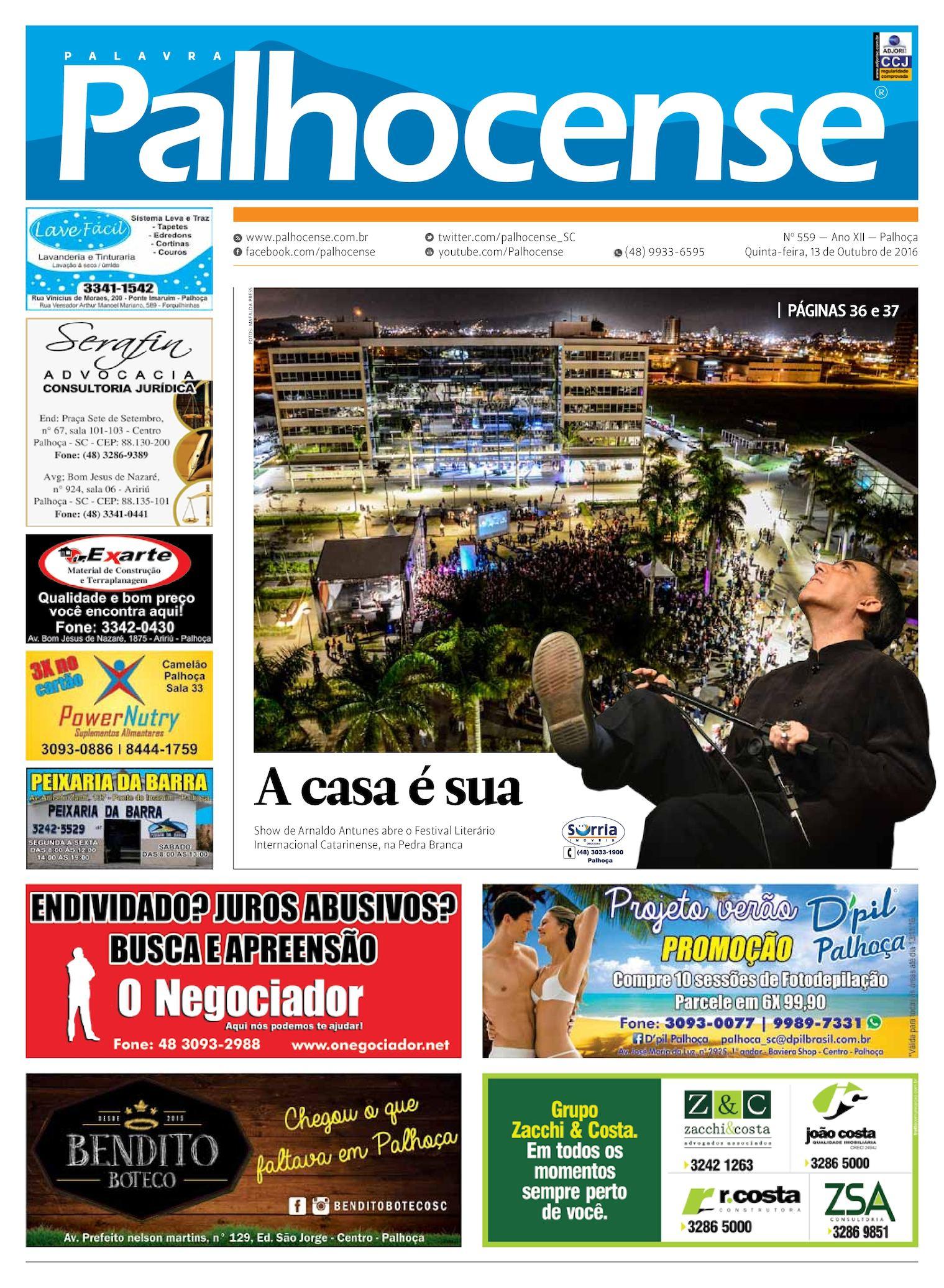Calaméo - Jornal Palavra Palhocense - EDIÇÃO 559 885a6906cf482
