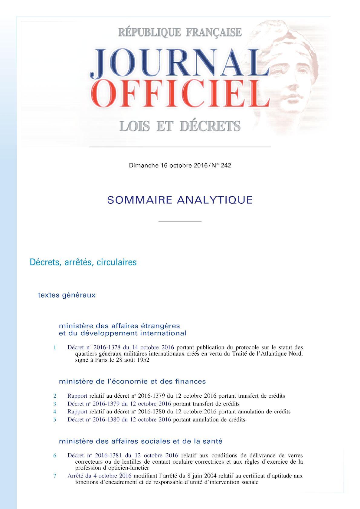 95274a2f1c7dbf Calaméo - Legifrance Jorf 16 Octobre 2016