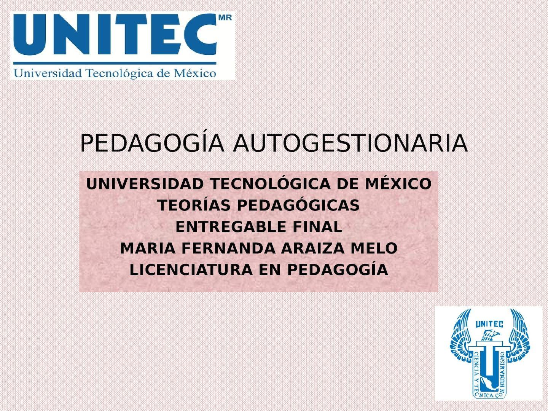 Pedagogia Autogestionaria Pdf