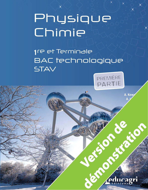 Calameo Physique Chimie 1re Et Terminale Bac Technologique Stav